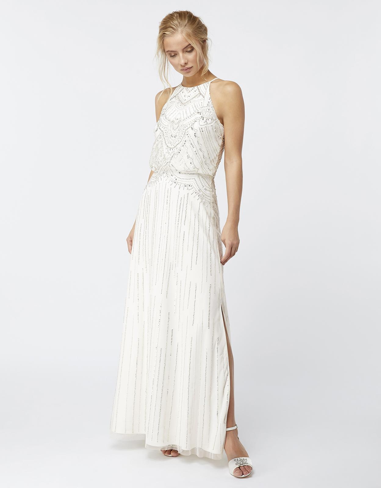 Monsoon Clara Embellished Bridal Maxi Dress in White - Lyst