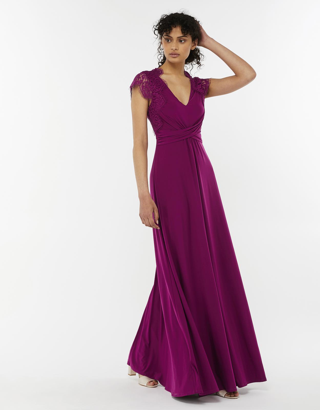 Monsoon Gwendoline Lace Maxi Dress in Purple - Lyst