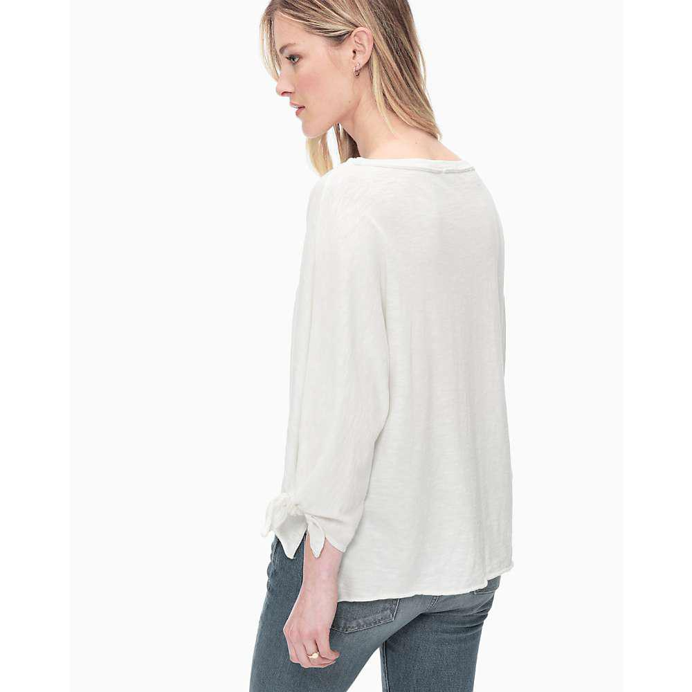 425e4a7dce6 Lyst - Splendid 3/4 Dolman Sleeve Tee in White