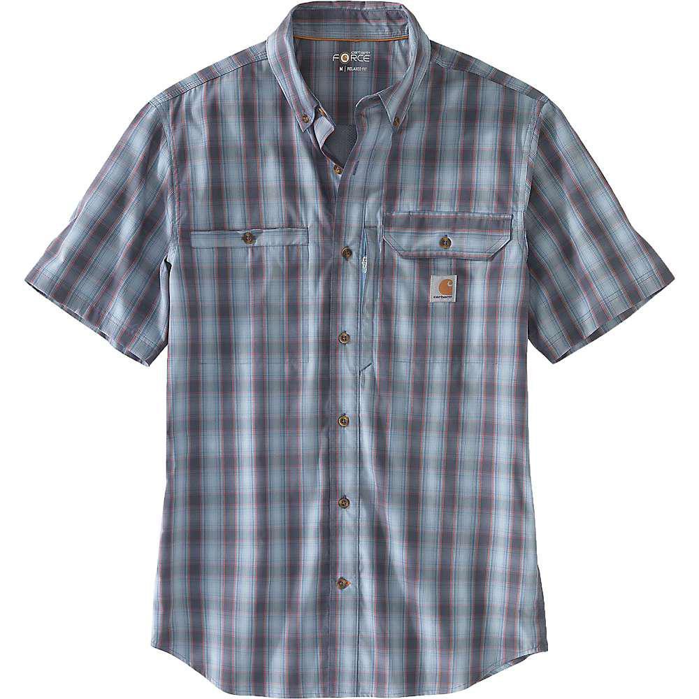 fe9d3475e513 Lyst - Carhartt Force Ridgefield Plaid Ss Shirt in Blue for Men