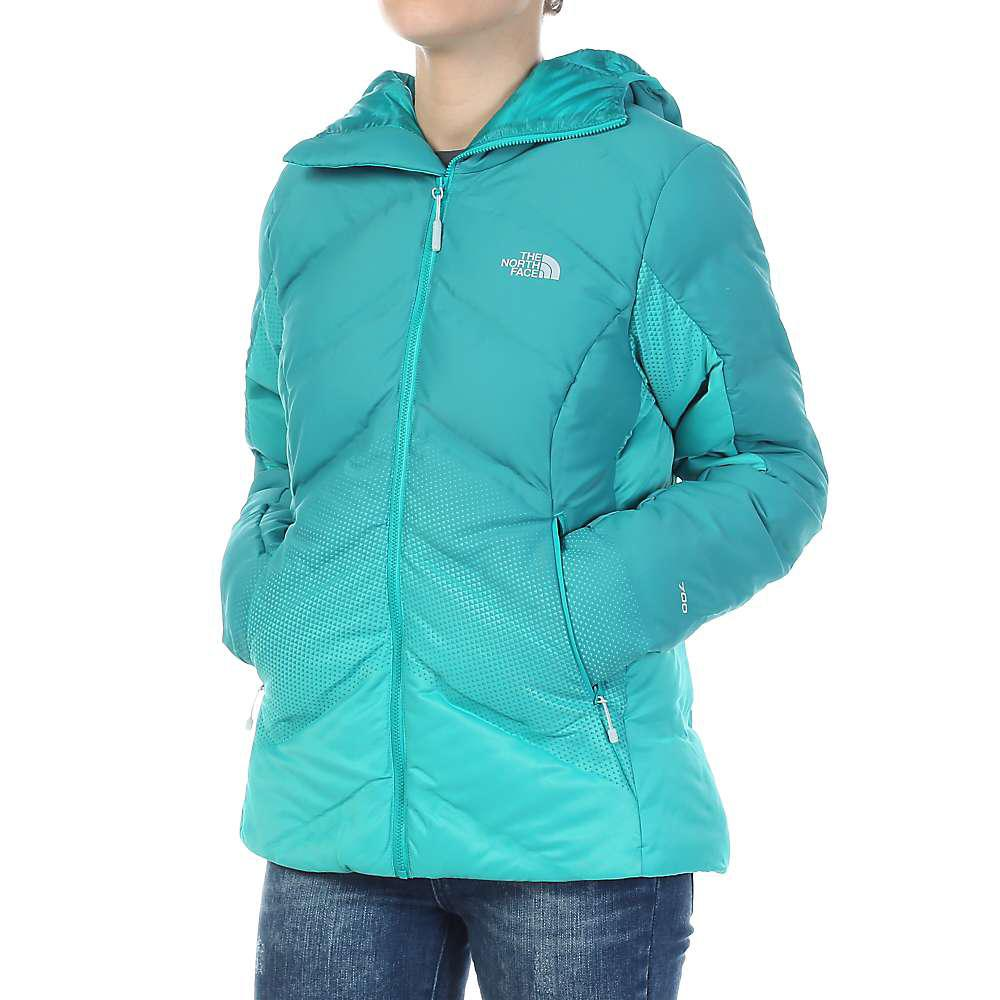 1acbf26e9 The North Face Fuseform Dot Matrix Hooded Down Jacket in Green - Lyst