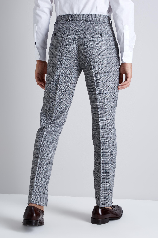 94dfb4edb4b47 Moss London - Skinny Fit Black And White Twist Check Trousers for Men -  Lyst. View fullscreen