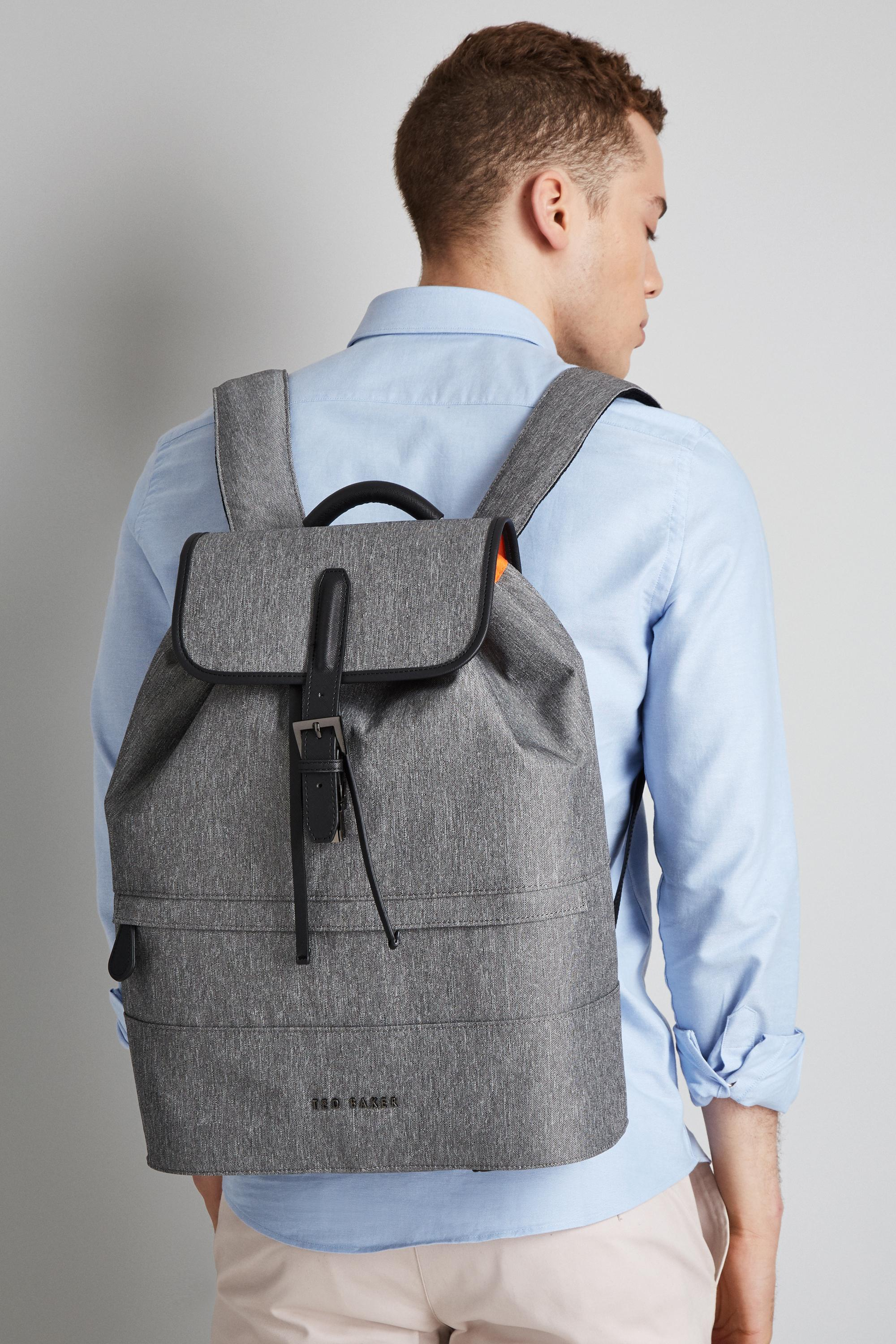 a455ba8dea6c70 Lyst - Ted Baker Grey Rayman Backpack in Gray for Men