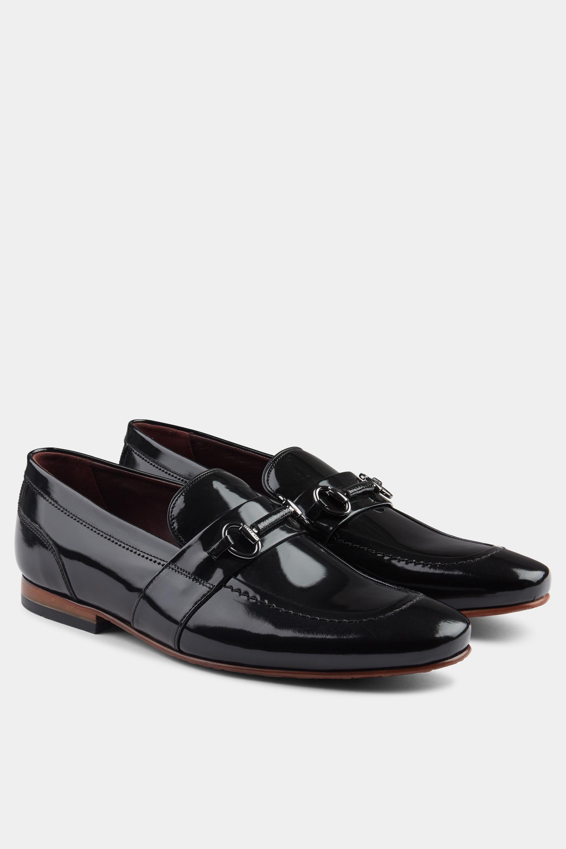 99551721b Ted Baker - Paiser Black High Shine Loafer for Men - Lyst. View fullscreen