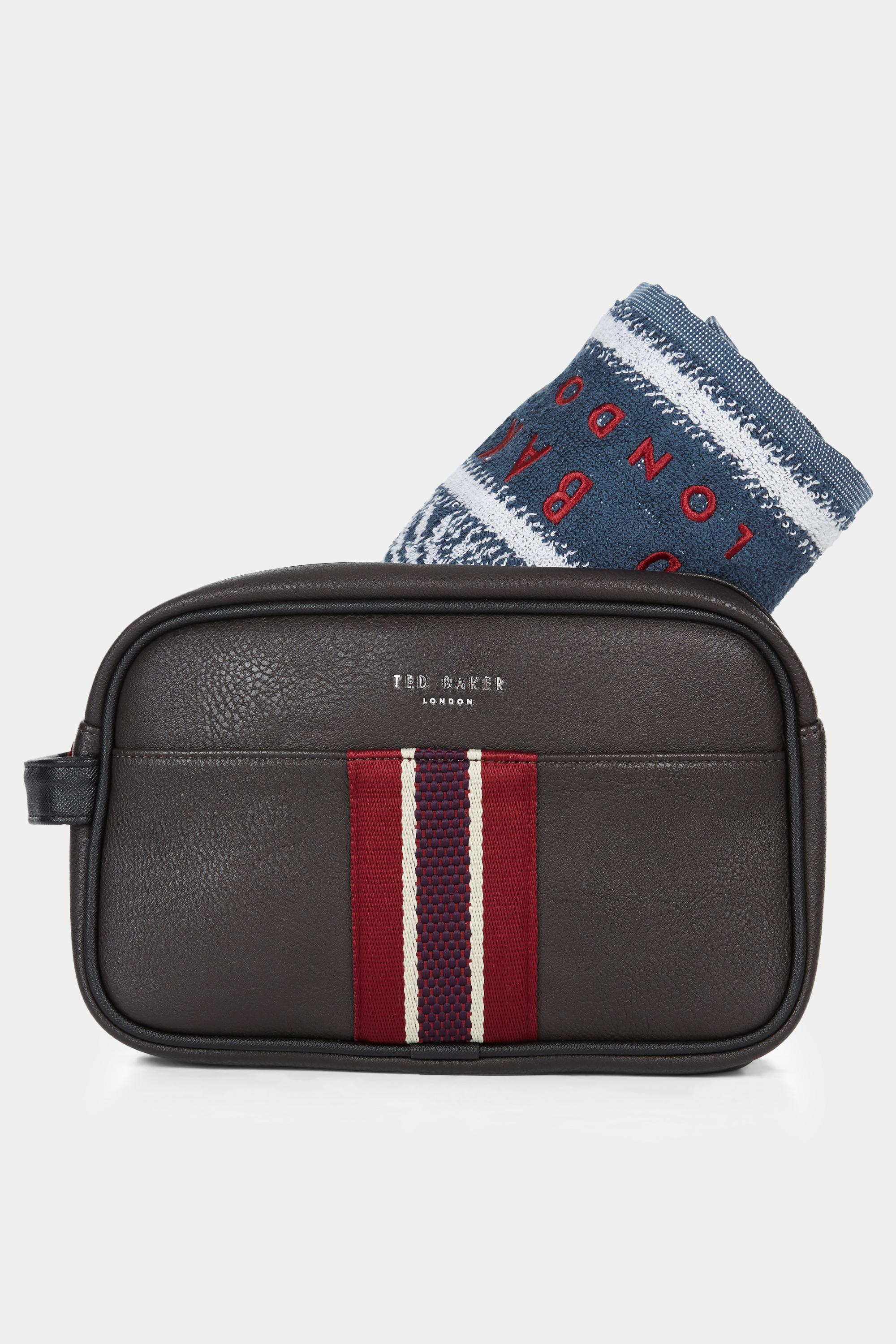 2173c62ee Ted Baker - Brown Smitset Washbag Chocolate With Towel for Men - Lyst. View  fullscreen