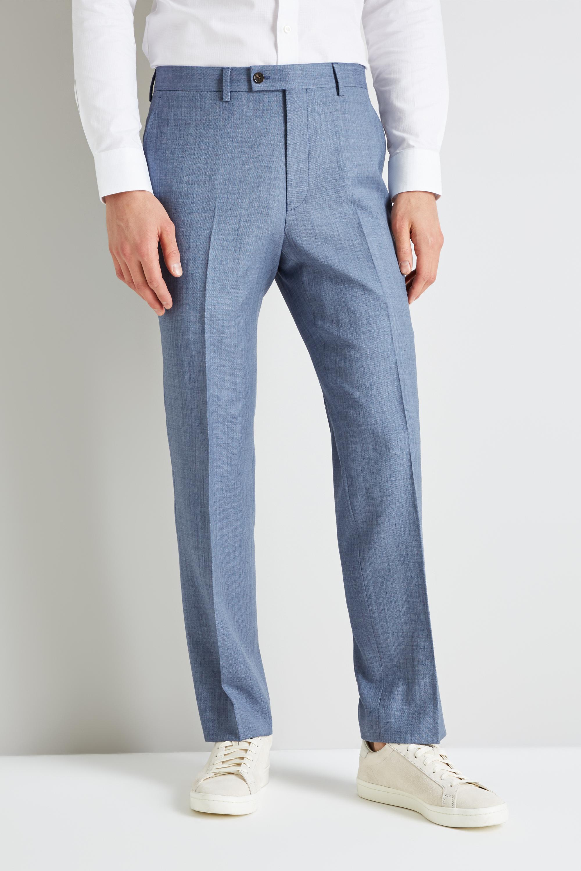 84ef6862472d1 Ted Baker Gold Tailored Fit Light Blue Sharkskin Trouser in Metallic ...