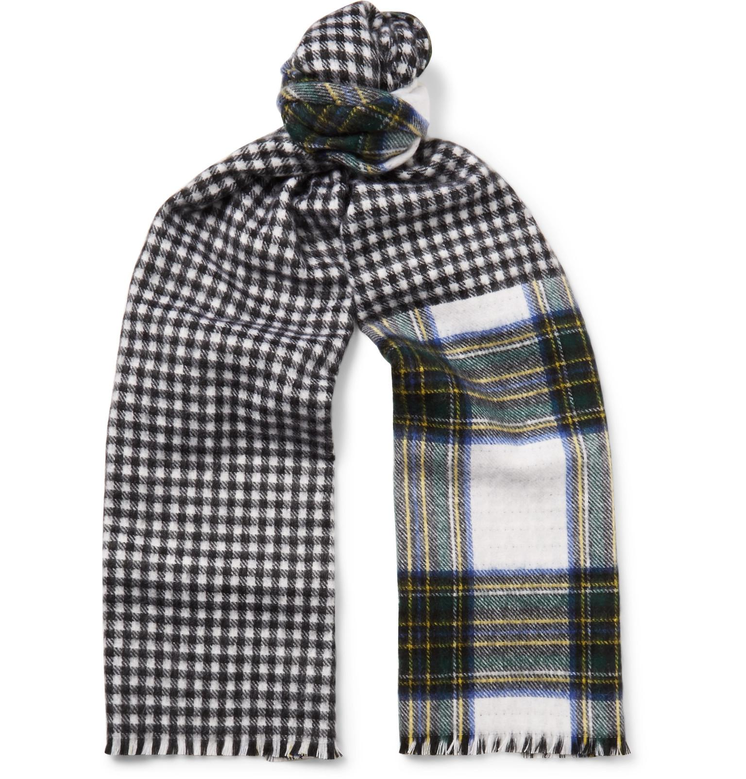 17f1d6dbe5cb7 Berluti Reversible Checked Cashmere Scarf for Men - Lyst
