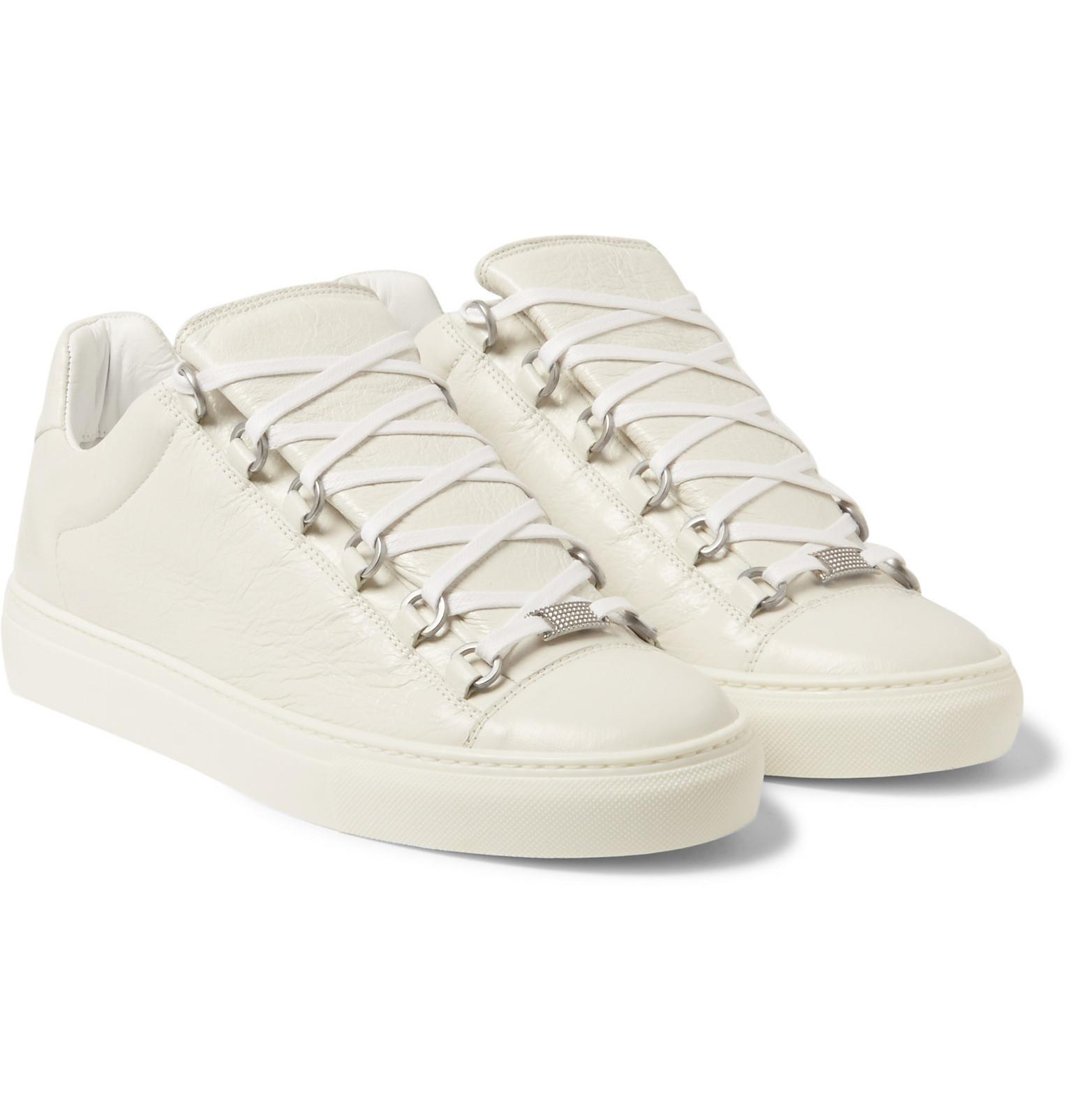 a2dc9a41f07a Lyst - Balenciaga Arena Low-top Leather Trainers in White for Men