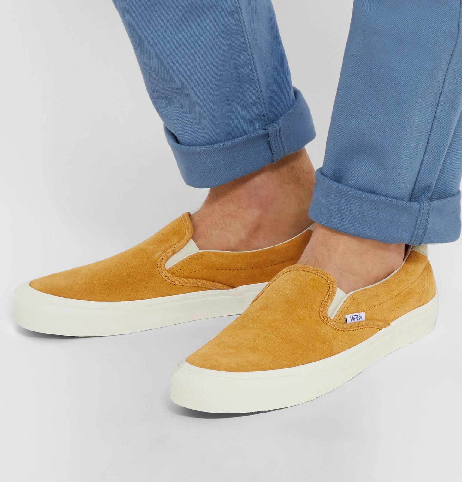 c851f54e62 Lyst - Vans Og 59 Lx Suede Slip-on Sneakers in Yellow for Men