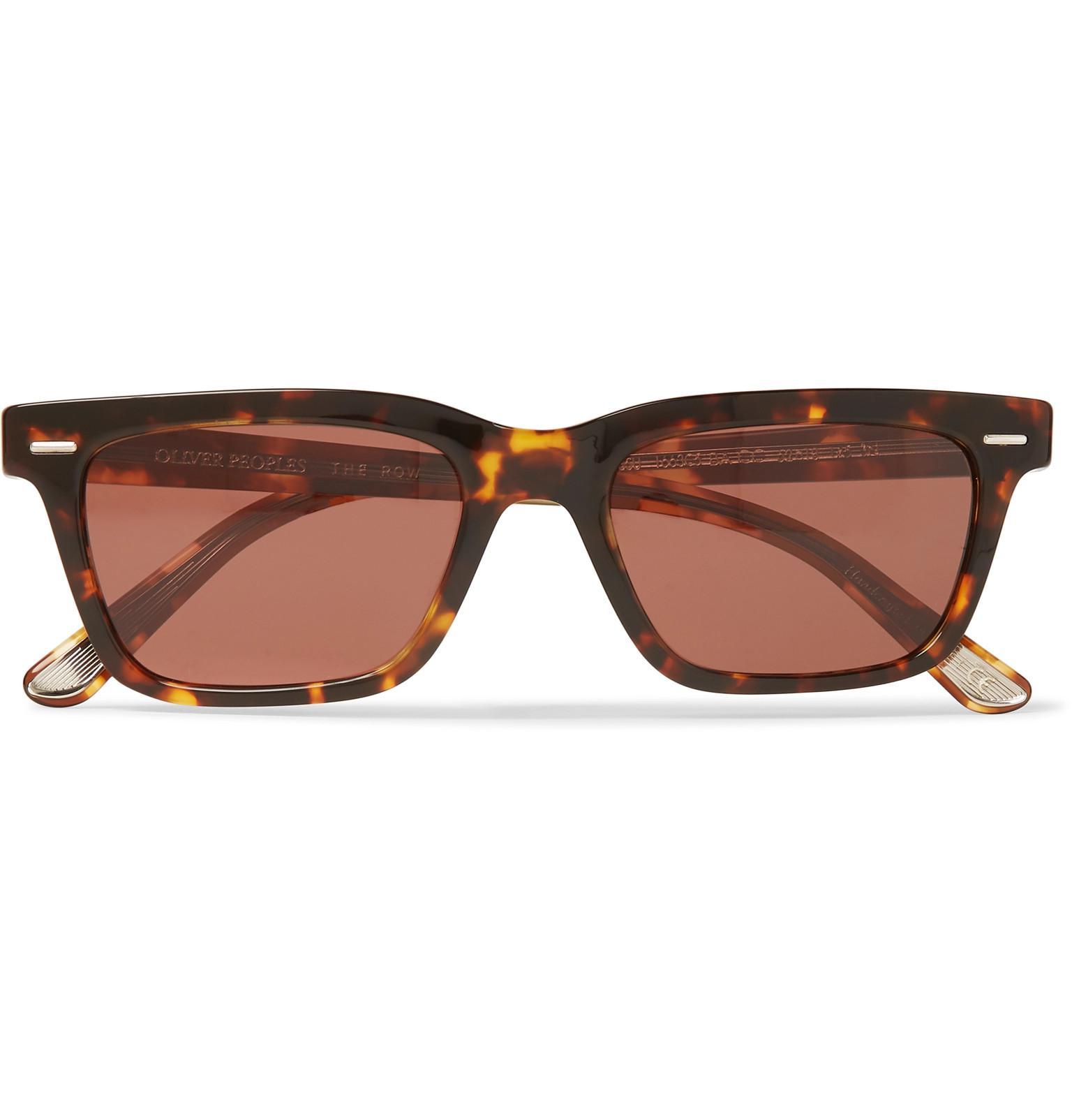 8f282519f44e The Row. Men s Brown + Oliver Peoples Ba Cc Square-frame Tortoiseshell Acetate  Sunglasses