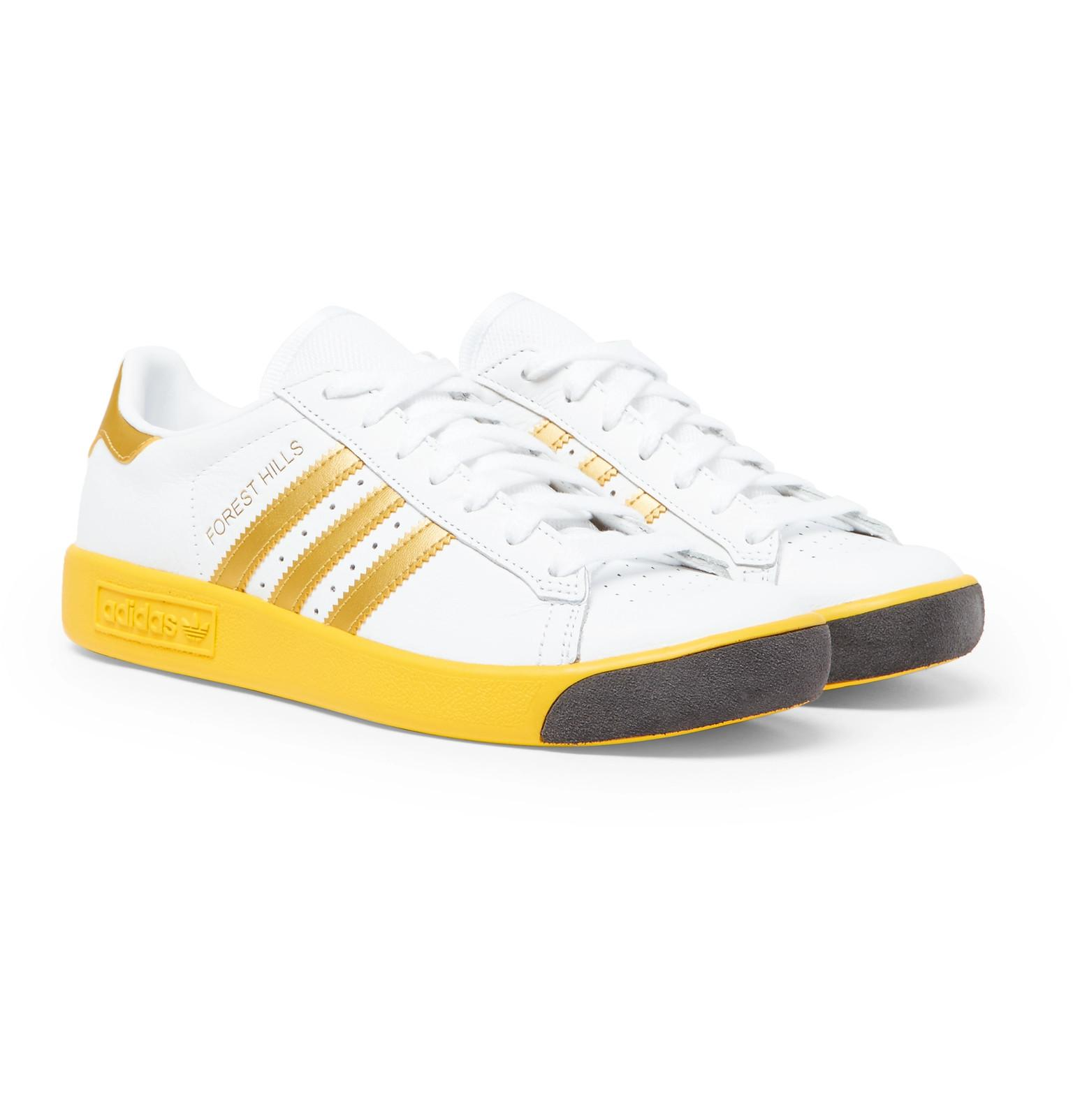 Forest Hills Full-grain Leather And Mesh Sneakers adidas Originals r9UfW