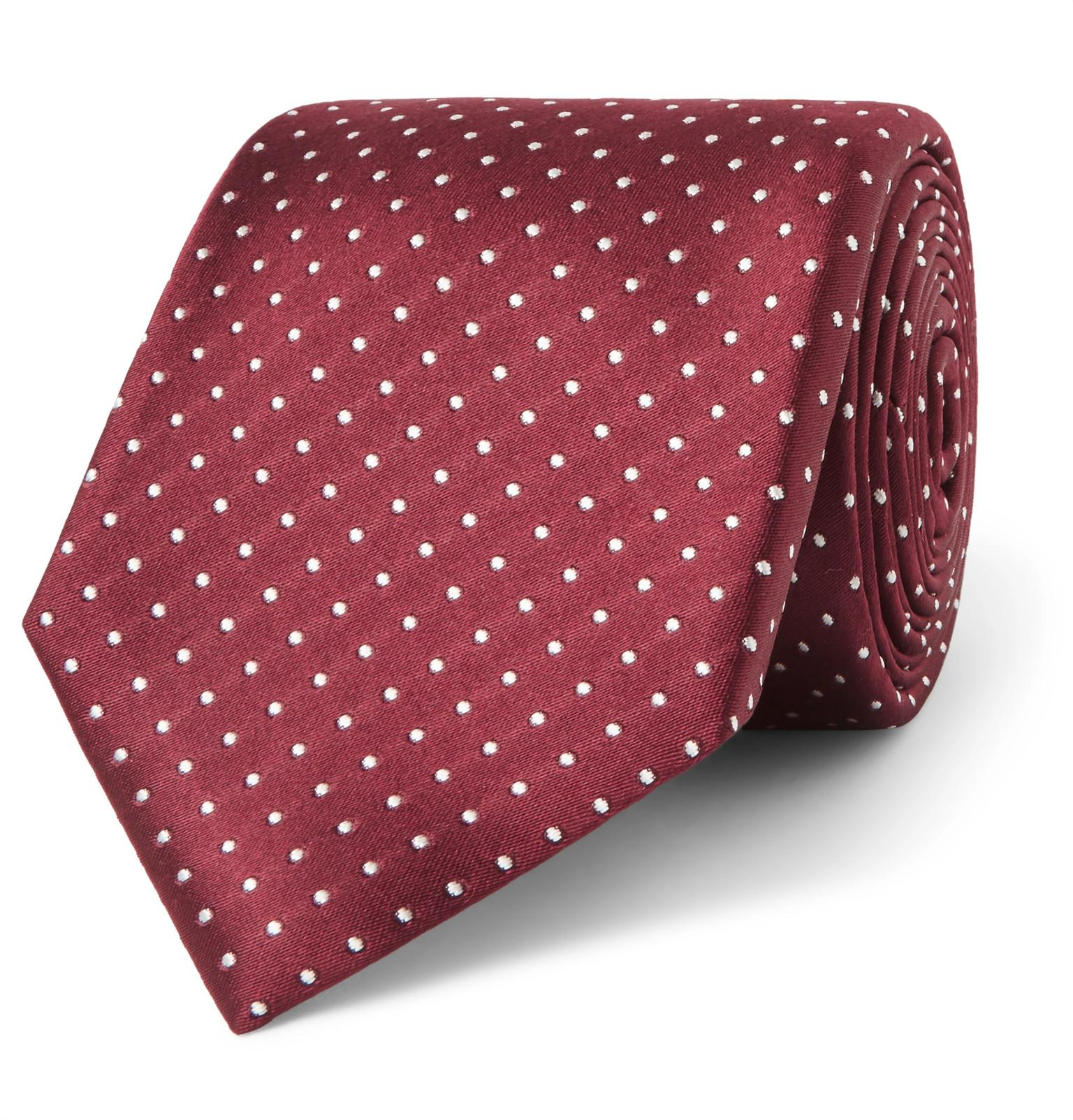 Cravate Tom Ford Soie Jacquard 8cm À Pois ElPKi