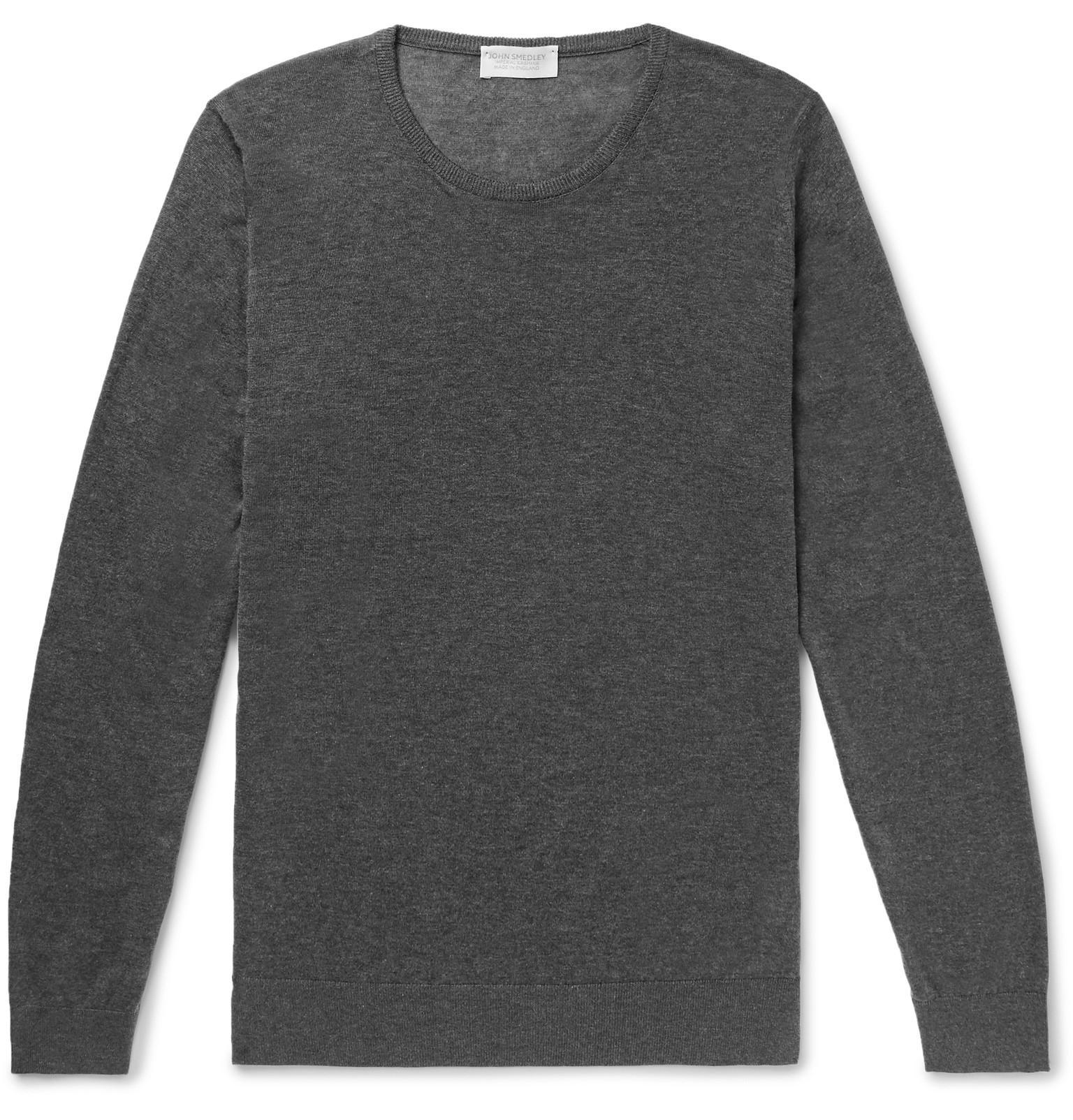 JOHN SMEDLEY Theon Slim-fit Sea Island Cotton And Cashmere-blend Sweater - Burgundy 4V9Jl3MwuO