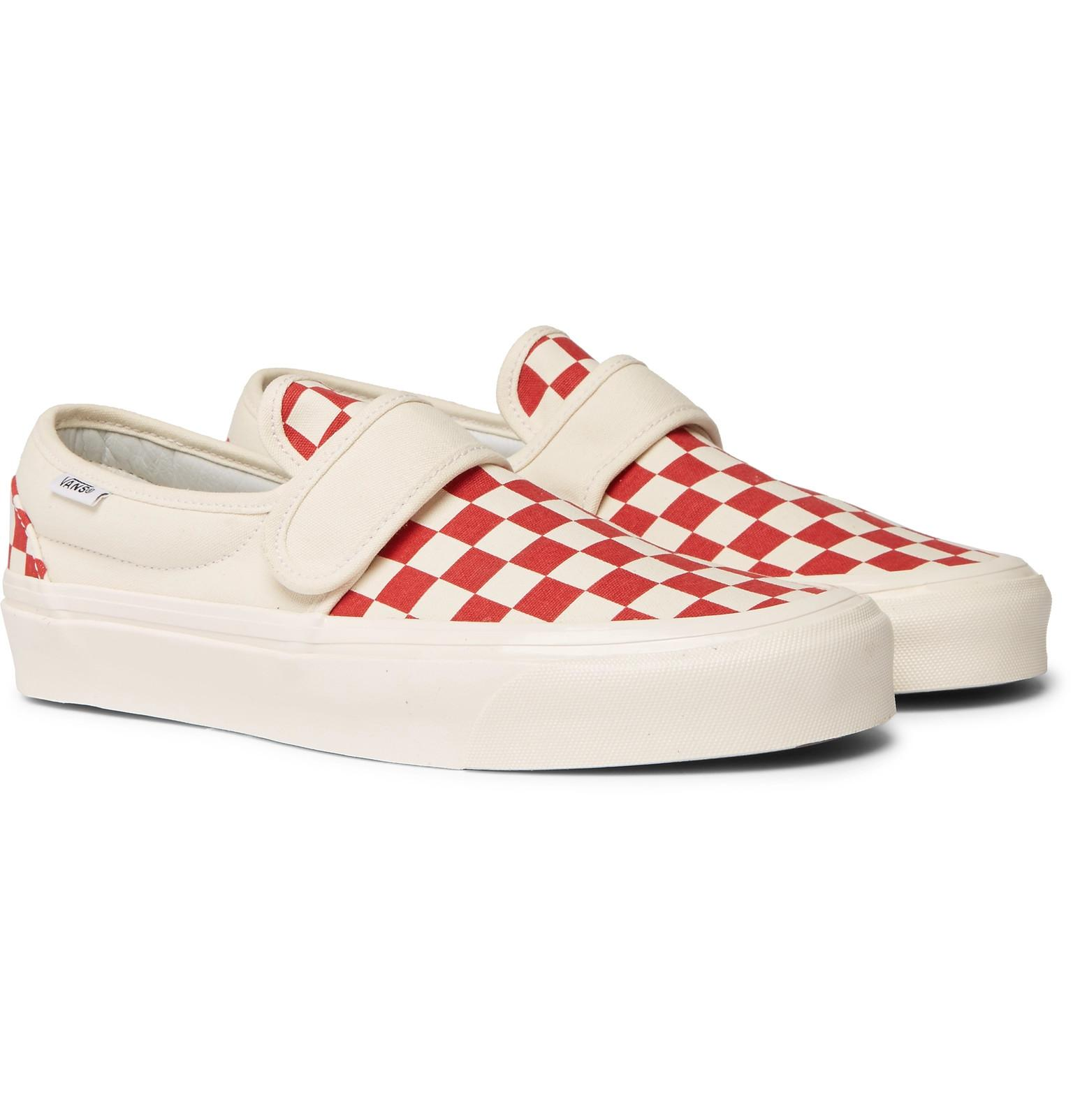 Vans Anaheim Factory 47 V Dx Checkerboard Canvas Sneakers in Red for ... 3faffd6aa
