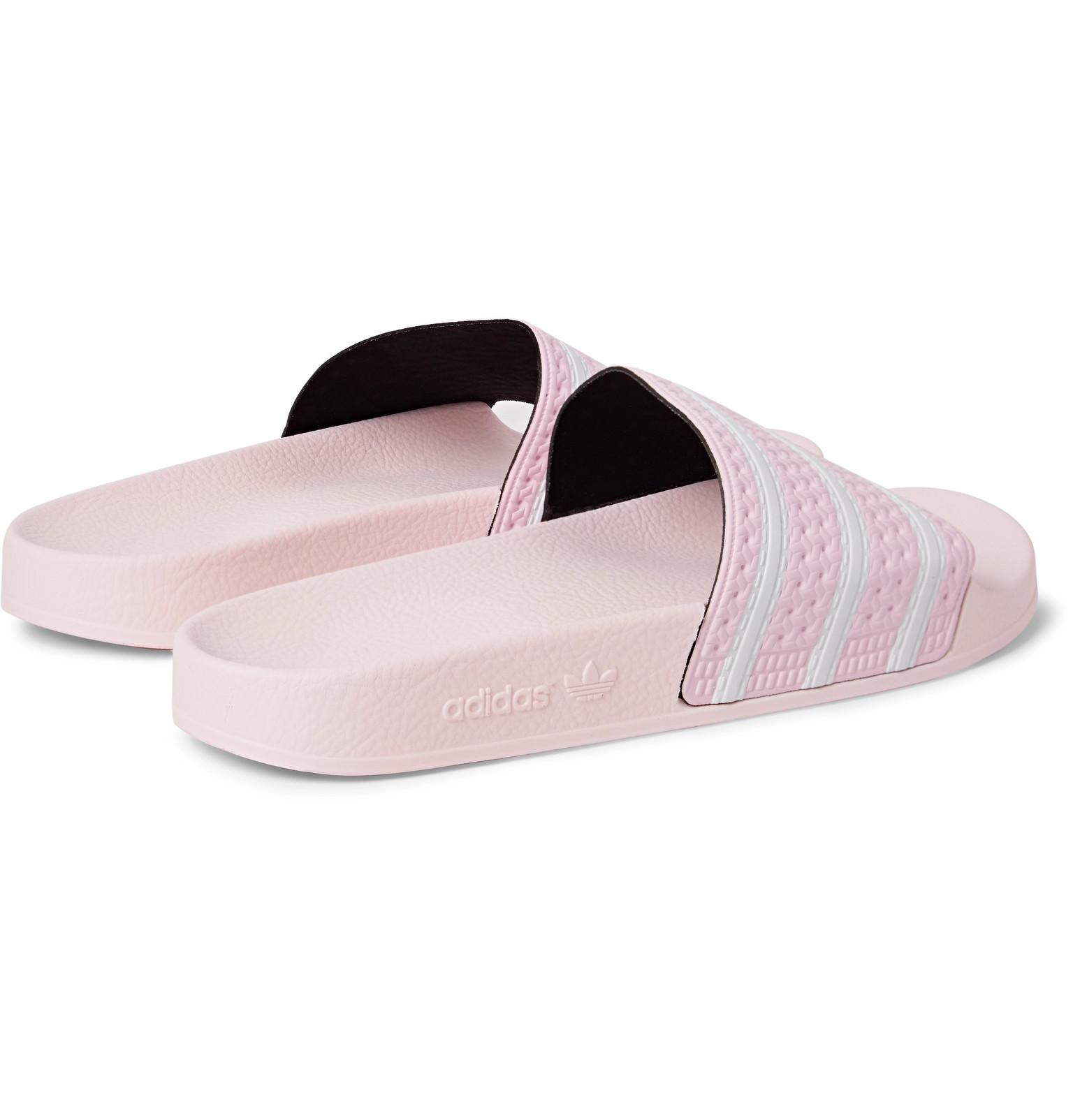 957cbbb26f45 Adidas Originals - Pink Adilette Textured-rubber Slides for Men - Lyst.  View fullscreen