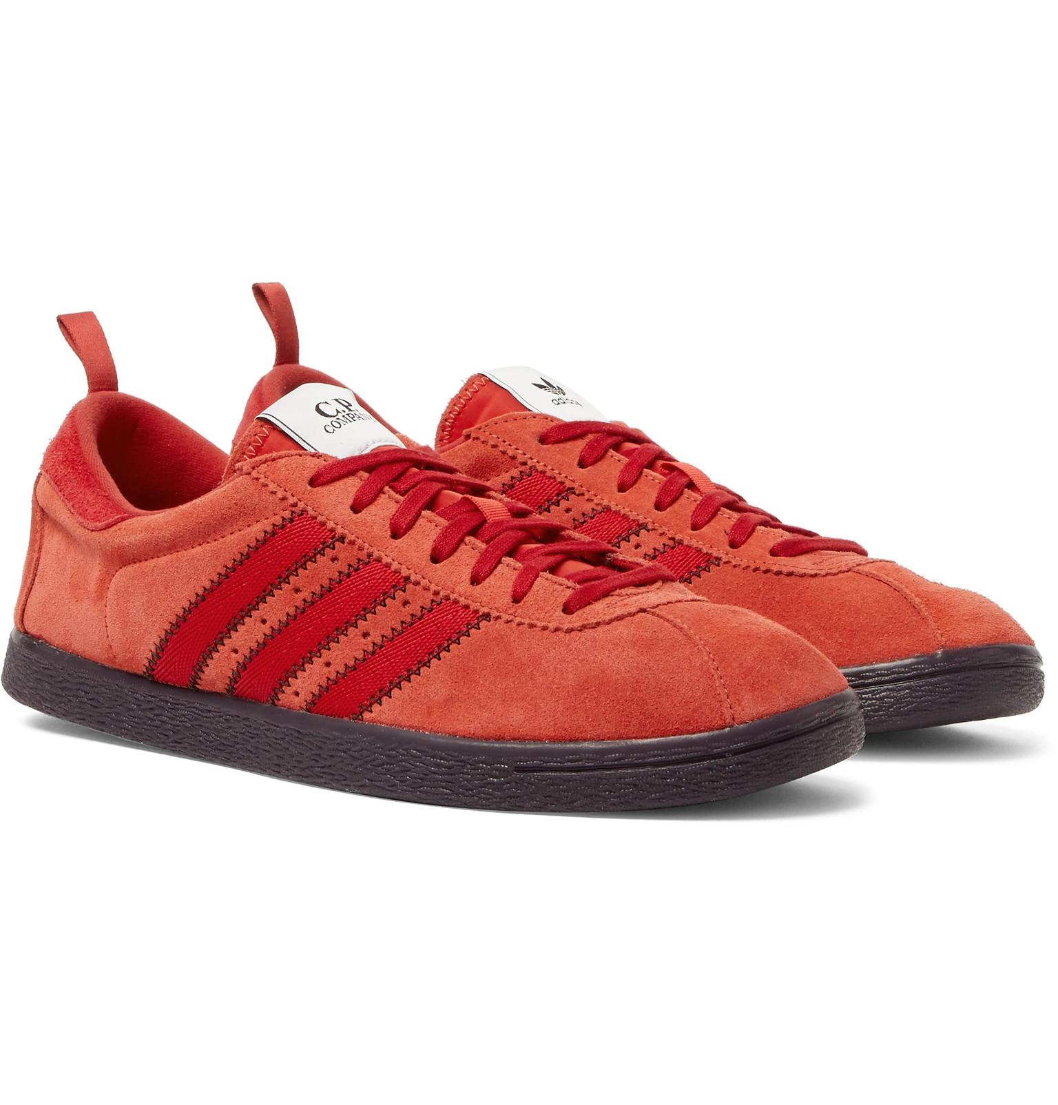 Adidas Originals + C.p. Company Tobacco Suede Sneakers in Red for ... 0b40283e8