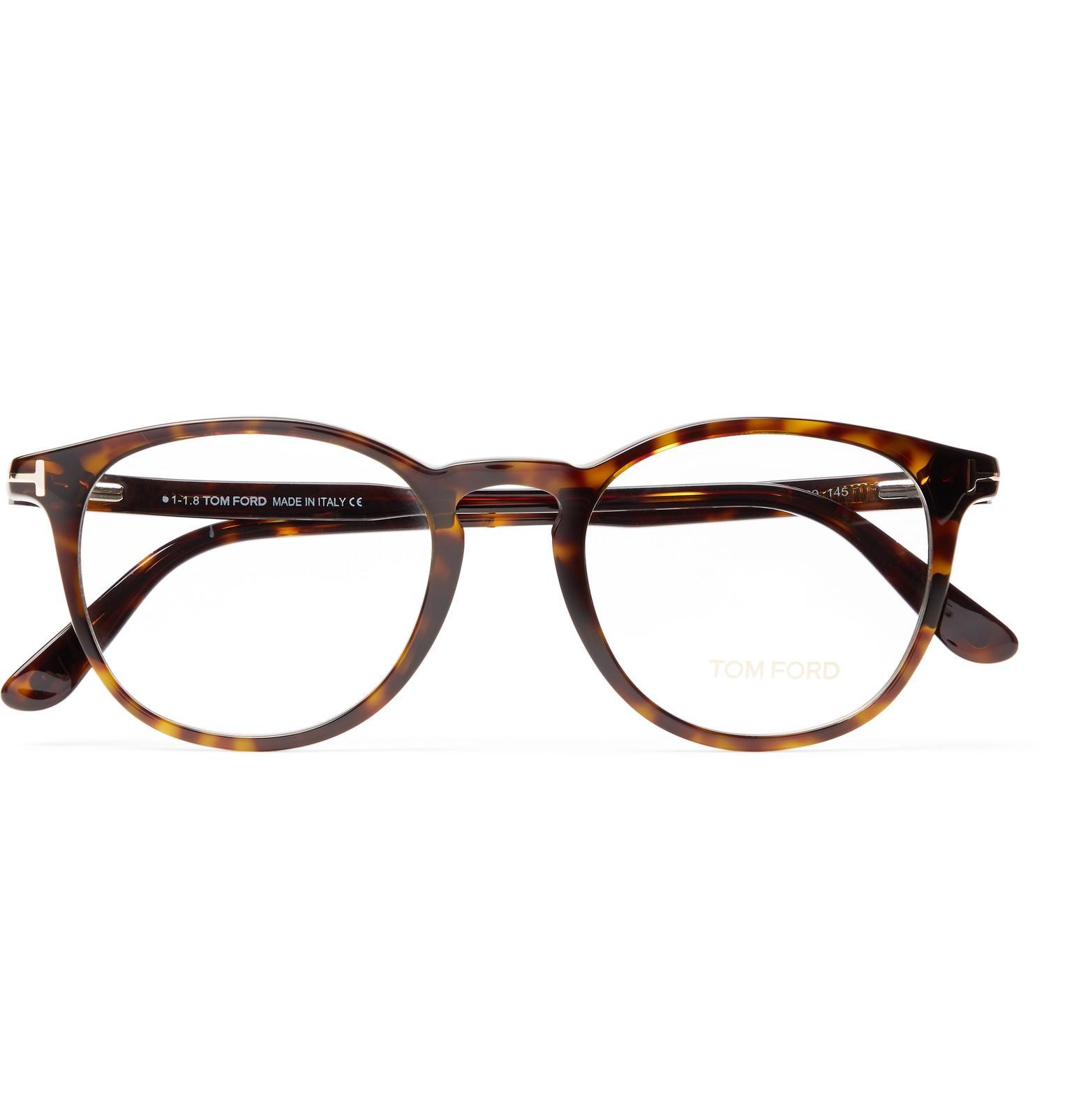 a9f84dd45e Tom Ford - Brown Round-frame Tortoiseshell Acetate Optical Glasses for Men  - Lyst. View fullscreen