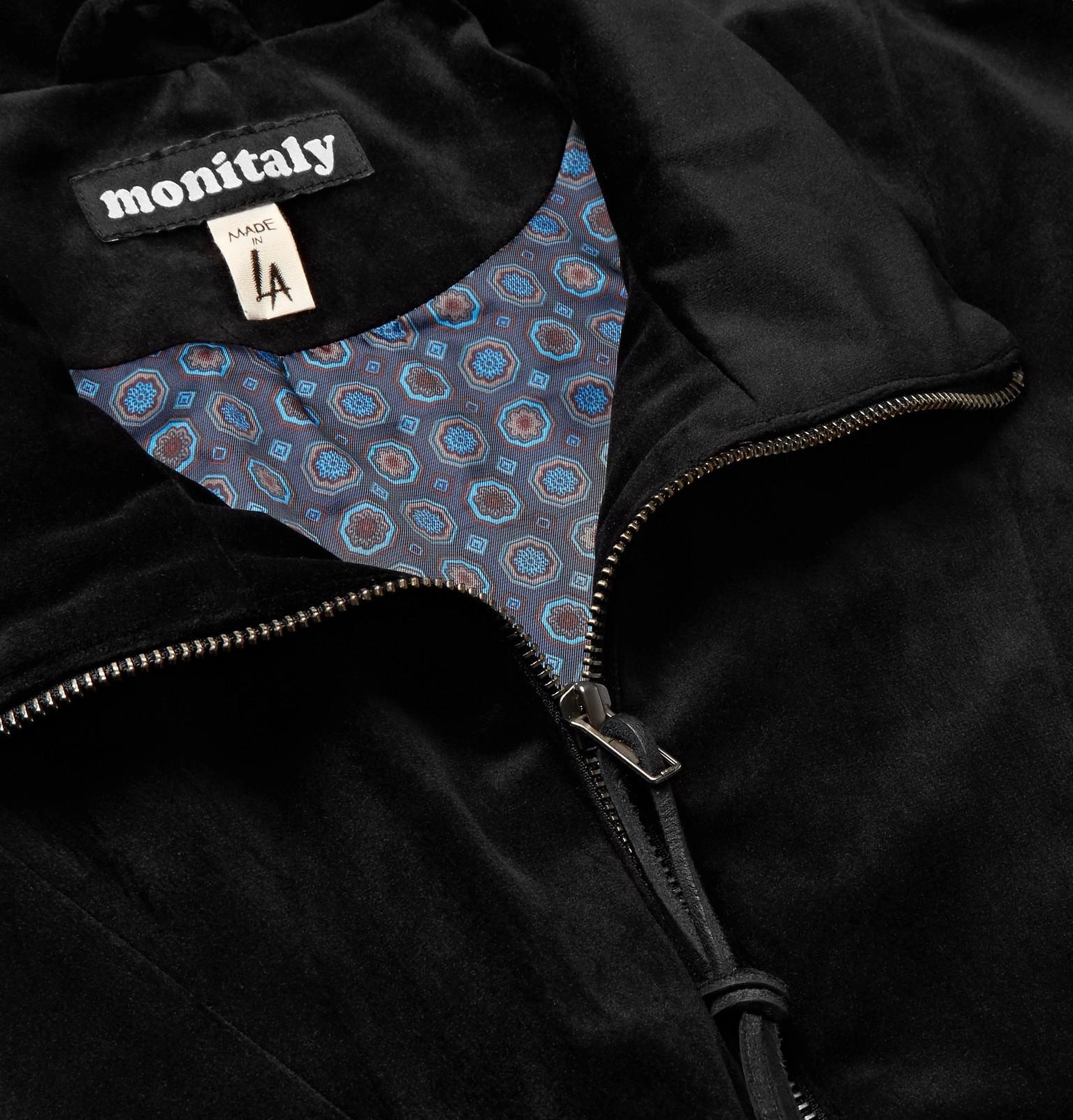 Men Velvet Blouson Dog Monitaly For Jacket Black In Lyst Old q4Bw8