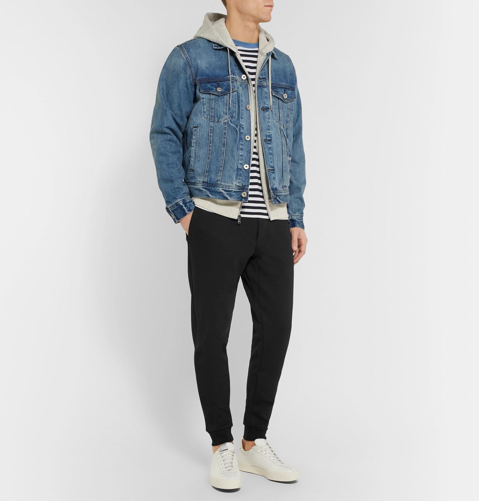 7e199fed8393 Polo Ralph Lauren - Black Slim-fit Tapered Jersey Sweatpants for Men -  Lyst. View fullscreen