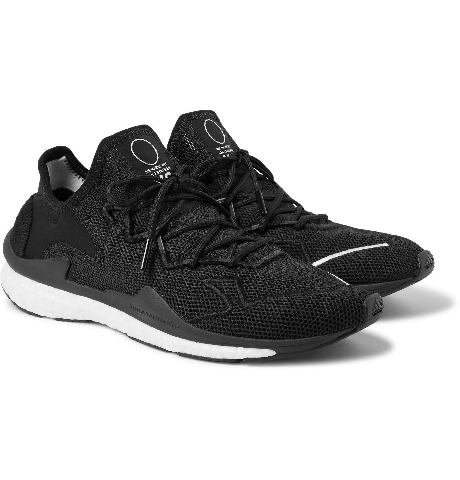 best website 1e3d7 78332 Y-3 Adizero Runner Neoprene And Suede-trimmed Mesh Sneakers in Black ...