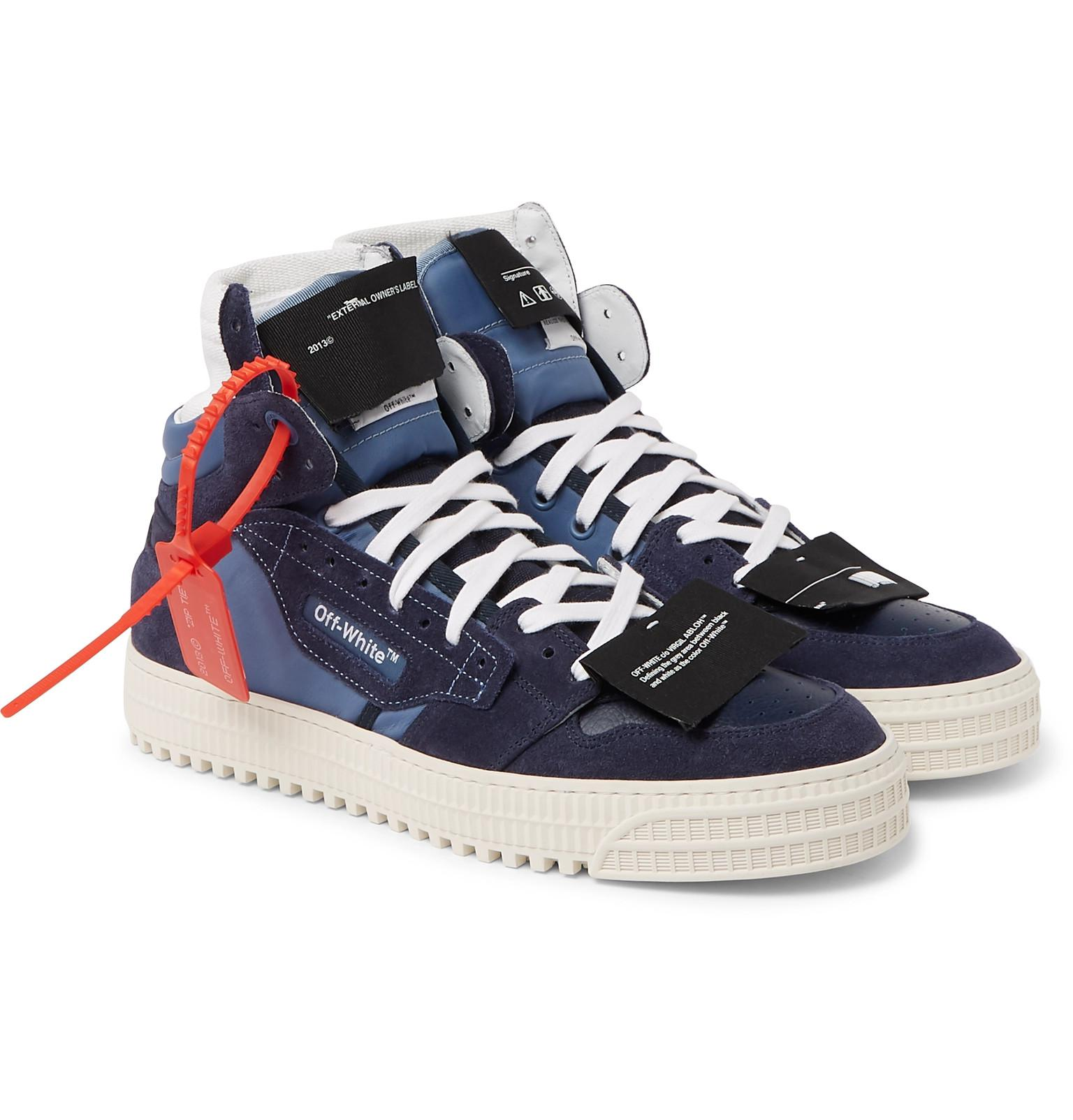 Lyst Court Virgil Leather Abloh And White Suede 0 Off Co 3 rPxrZg0