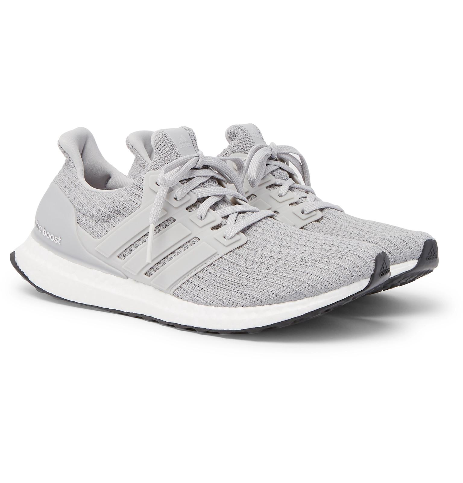 Ultraboost Gray Rubber Originals Trimmed Primeknit Sneakers Adidas wY68qHH