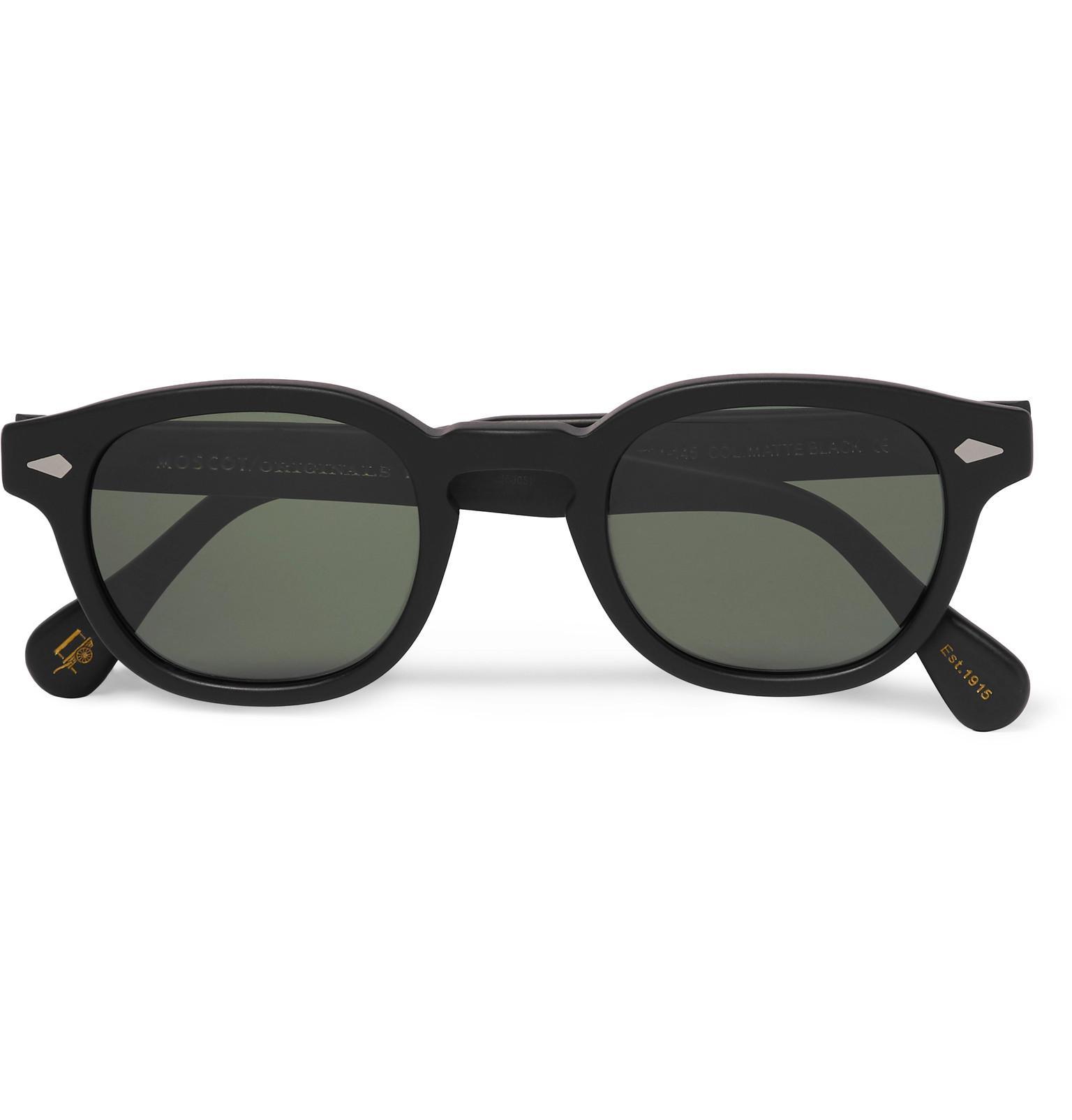 aabd5961b76 Lyst - Moscot Lemtosh Round-frame Matte-acetate Sunglasses in Black ...