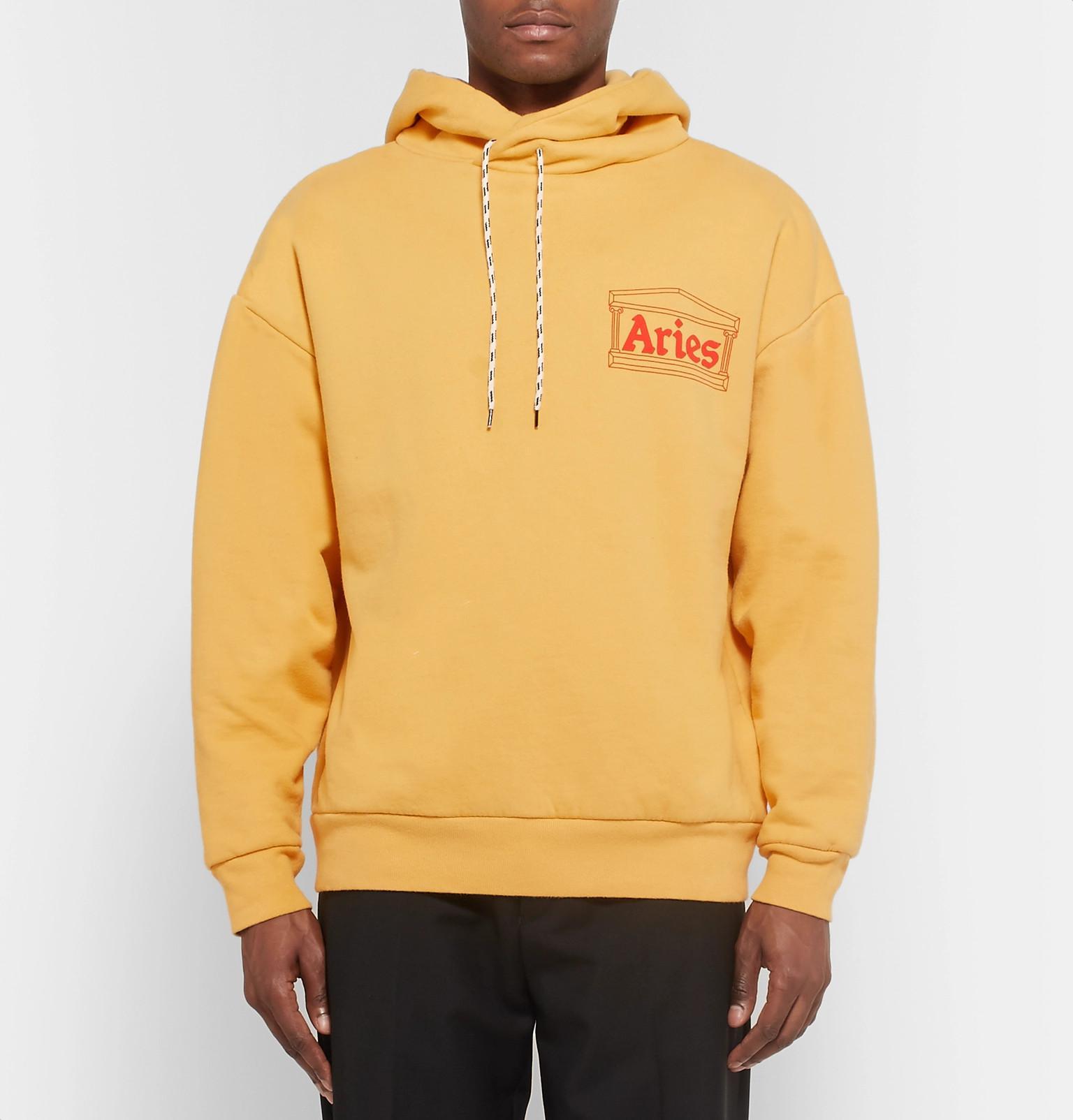 Fullscreen Cotton Logo Lyst Men Print Jersey For Hoodie View Aries Yellow A76wBB
