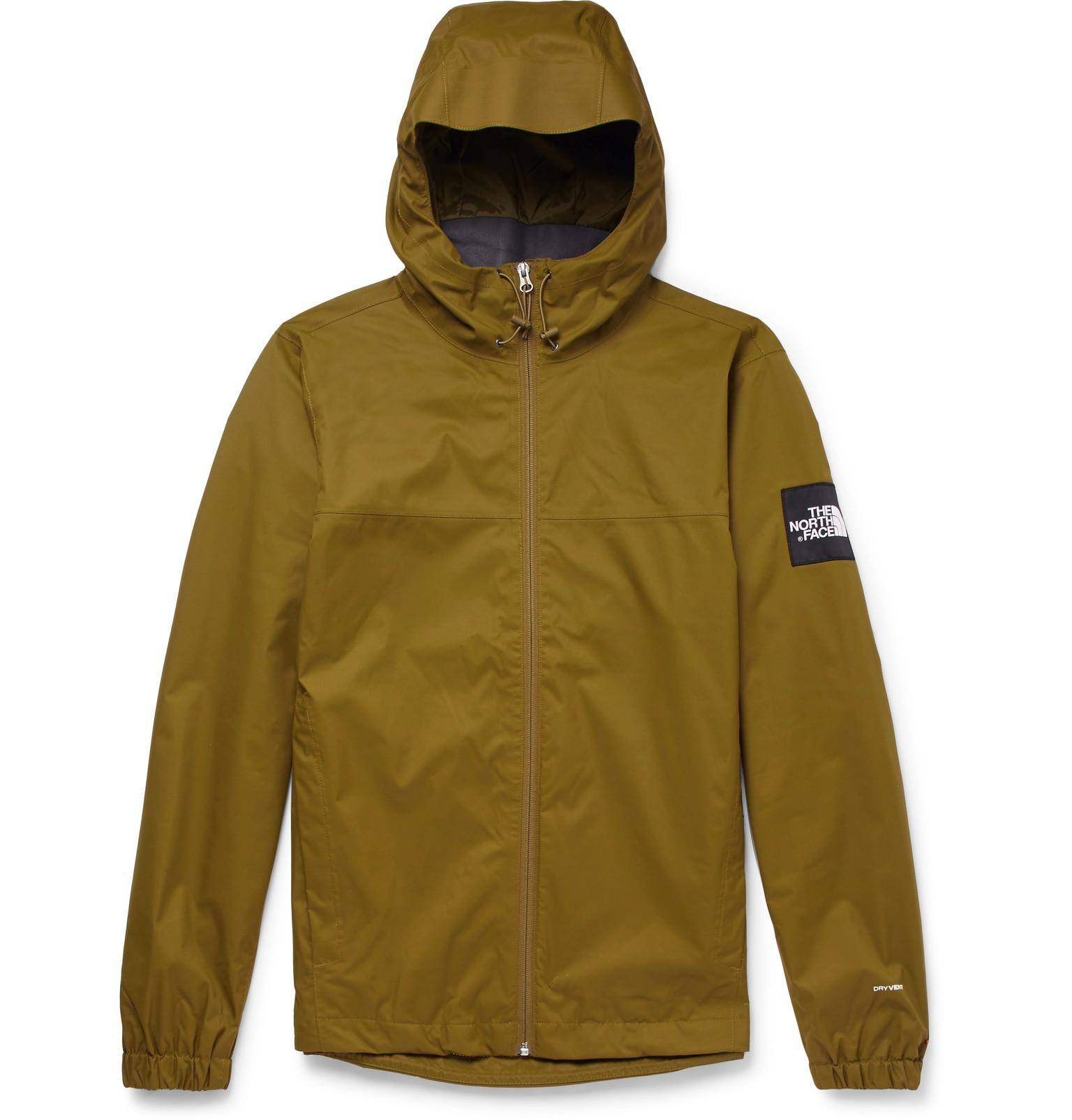 c733556735 The North Face Mountain Q Waterproof Shell Hooded Jacket in Green ...