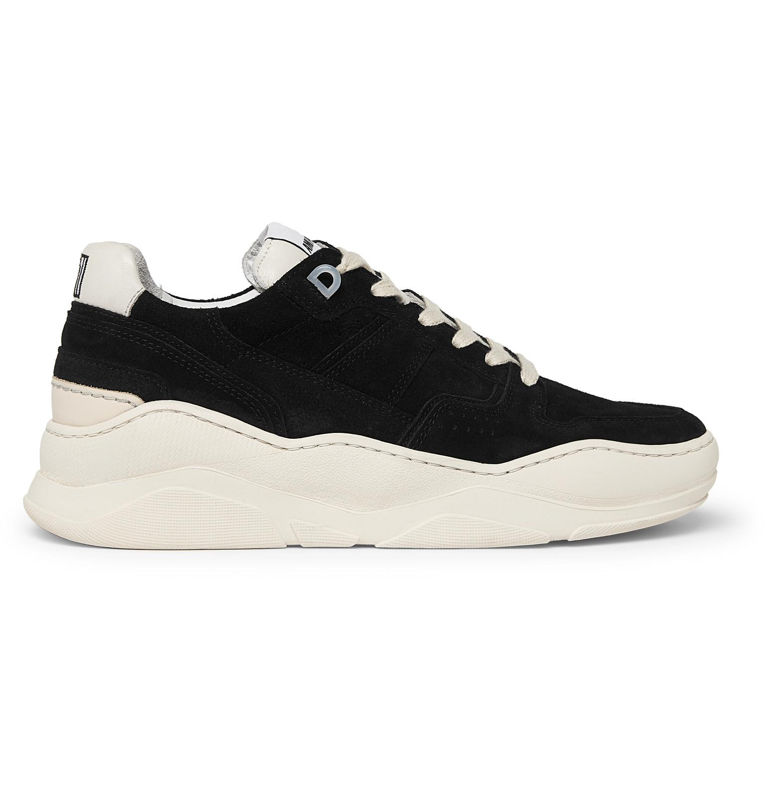 Leather Lyst In Men Sneakers Suede Trimmed Ami Black For 5URwrqUHWX