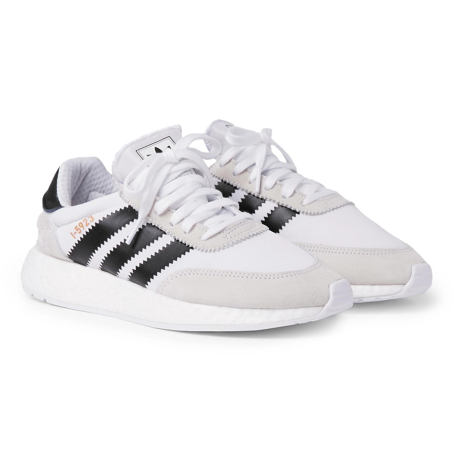 I-5293 Leather And Suede-trimmed Neoprene Sneakers adidas Originals Zq5Xk5CXh