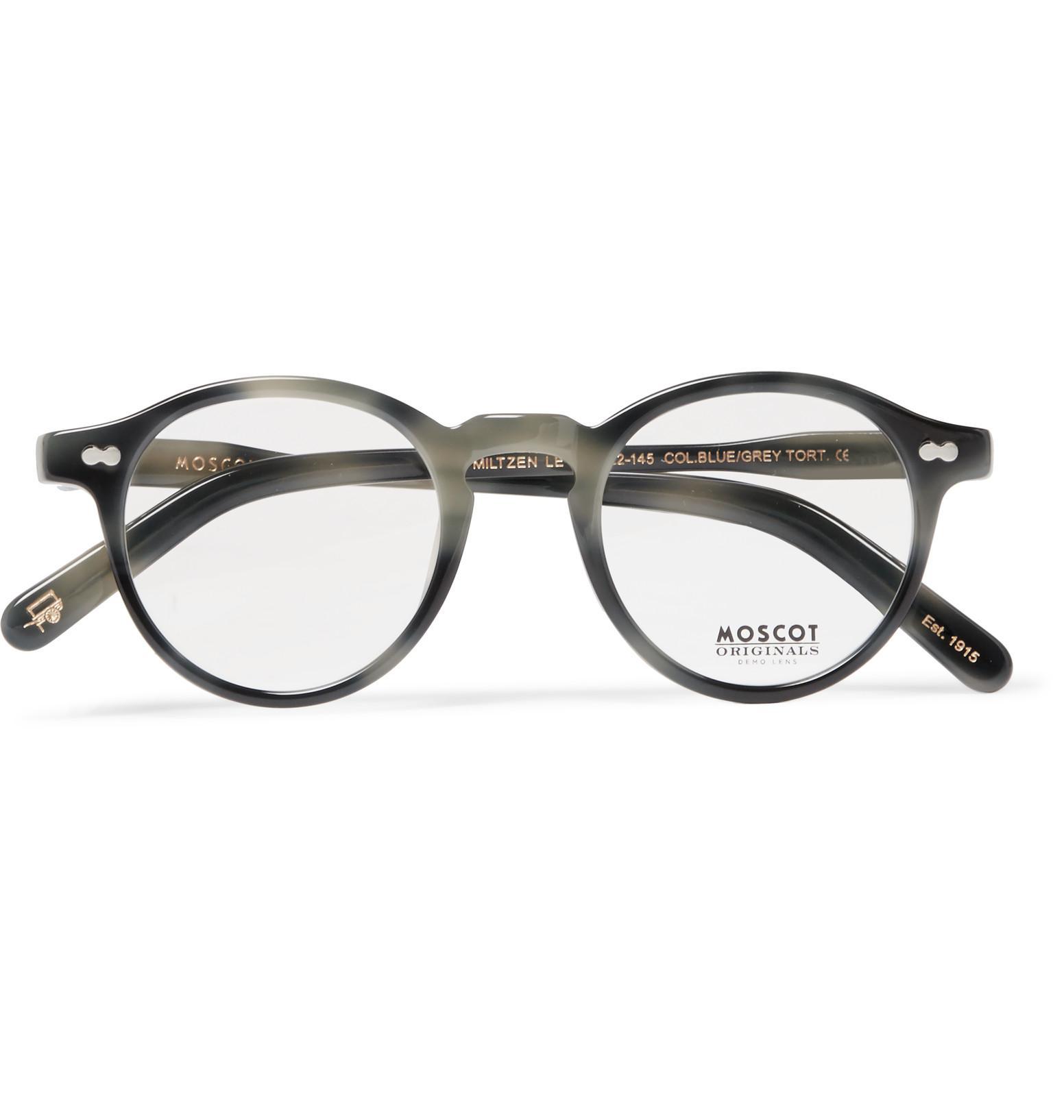 a1d72f830b2 Lyst - Moscot Miltzen Round-frame Acetate Optical Glasses in Gray ...
