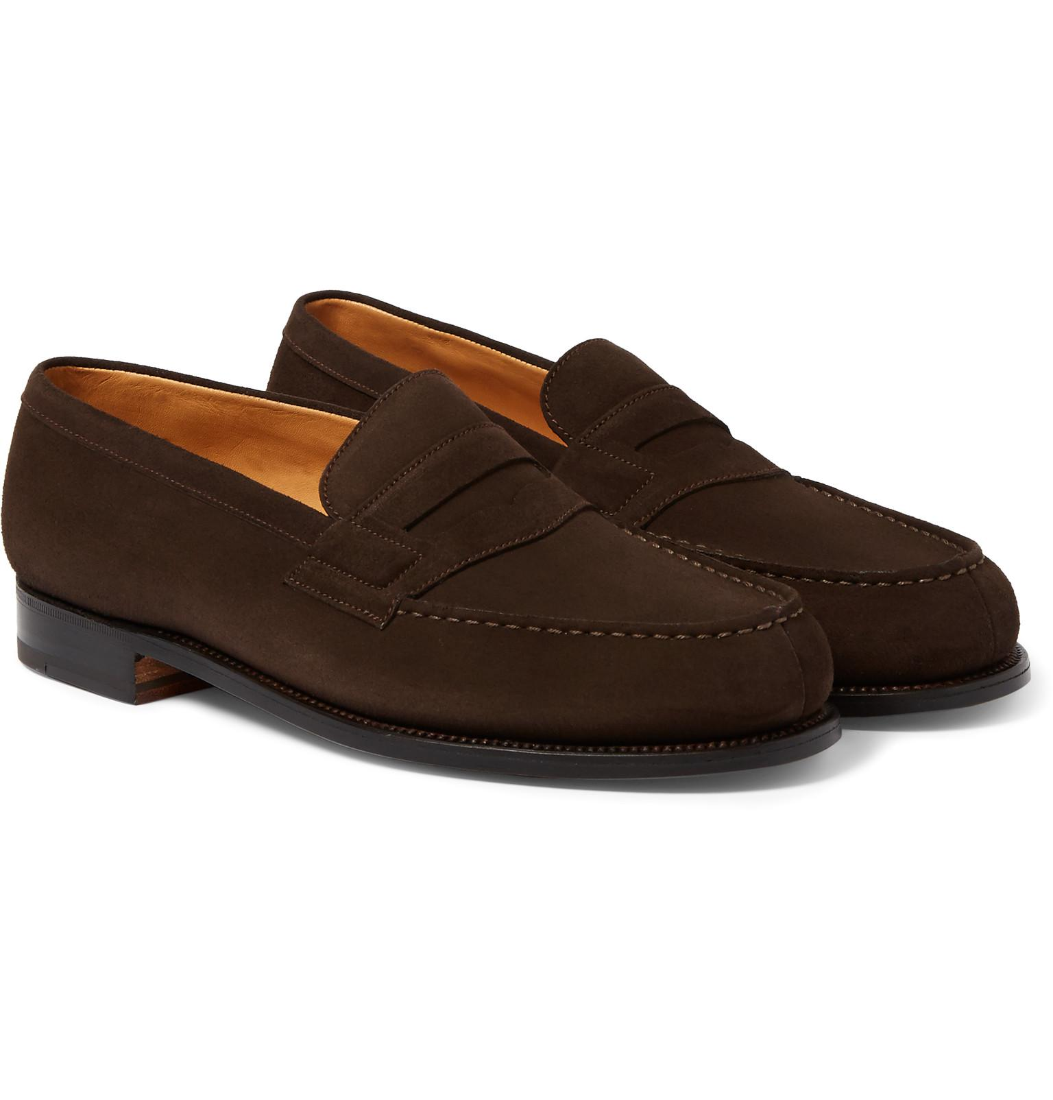 Leather And Suede Penny Loafers J.M. Weston Free Shipping Comfortable Clearance Low Cost Clearance Fake Sneakernews Cheap Online Cheap Outlet Locations Ti8dAV