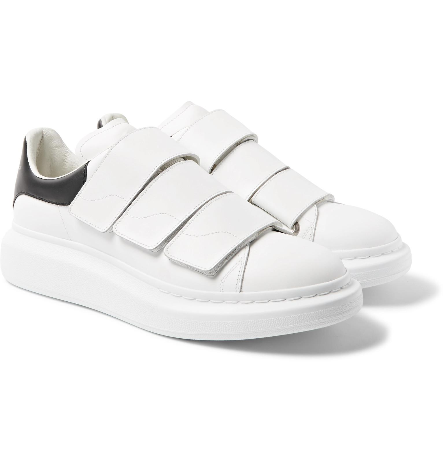 Exaggerated-sole Leather Sneakers - WhiteAlexander McQueen CsIjwxN