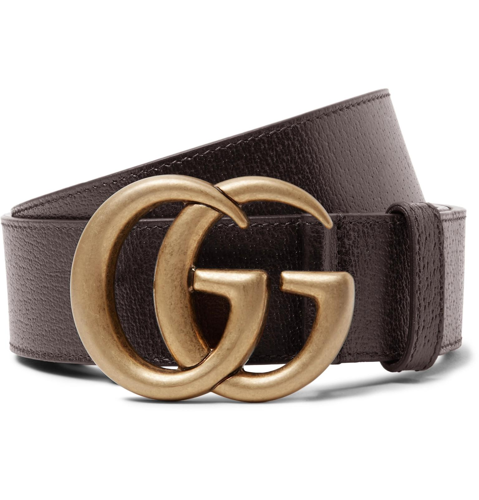 d748d41382b Gucci 4cm Dark-brown Full-grain Leather Belt in Brown for Men - Lyst