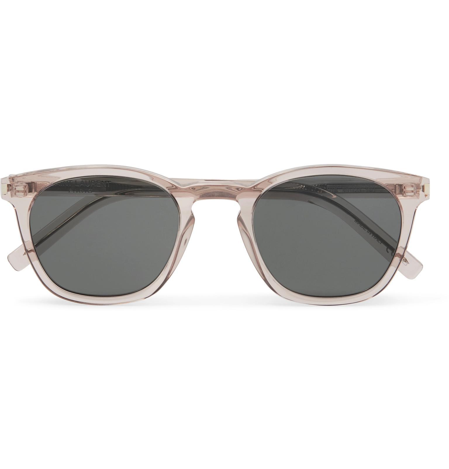 b1490370fc67 Lyst - Saint Laurent D-frame Acetate Sunglasses in Gray for Men