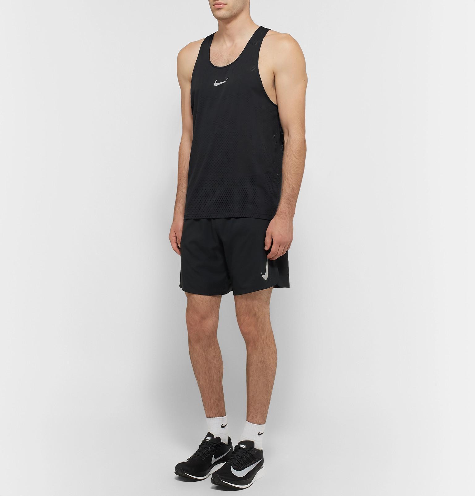 50f0aa70c768d5 Nike Aeroswift Mesh Tank Top in Black for Men - Lyst