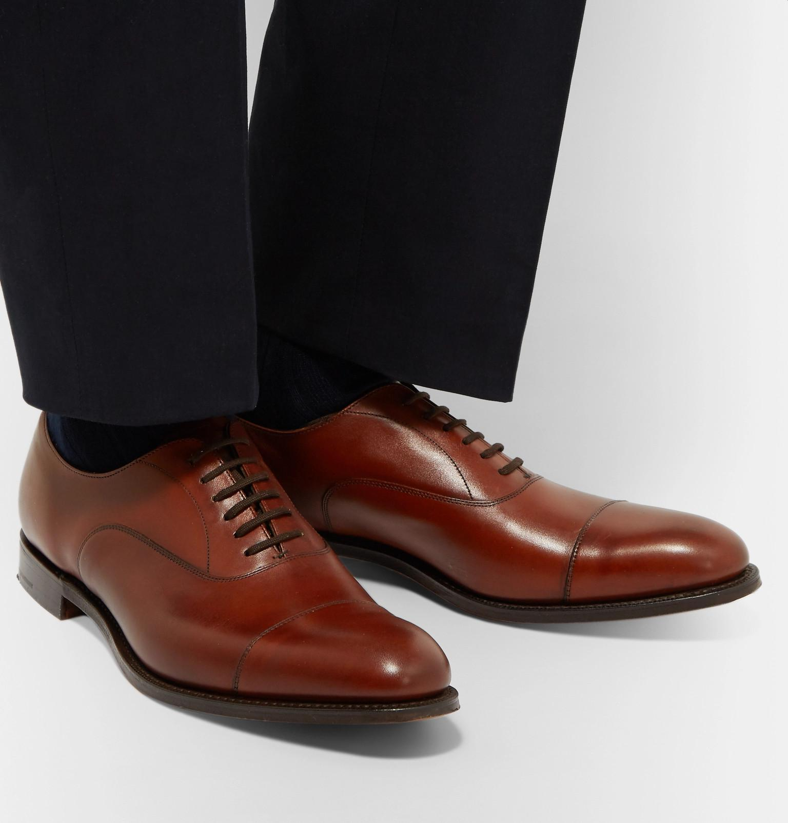 f60394c21ffb Lyst - Church S Dubai Polished-leather Oxford Shoes in Brown for Men