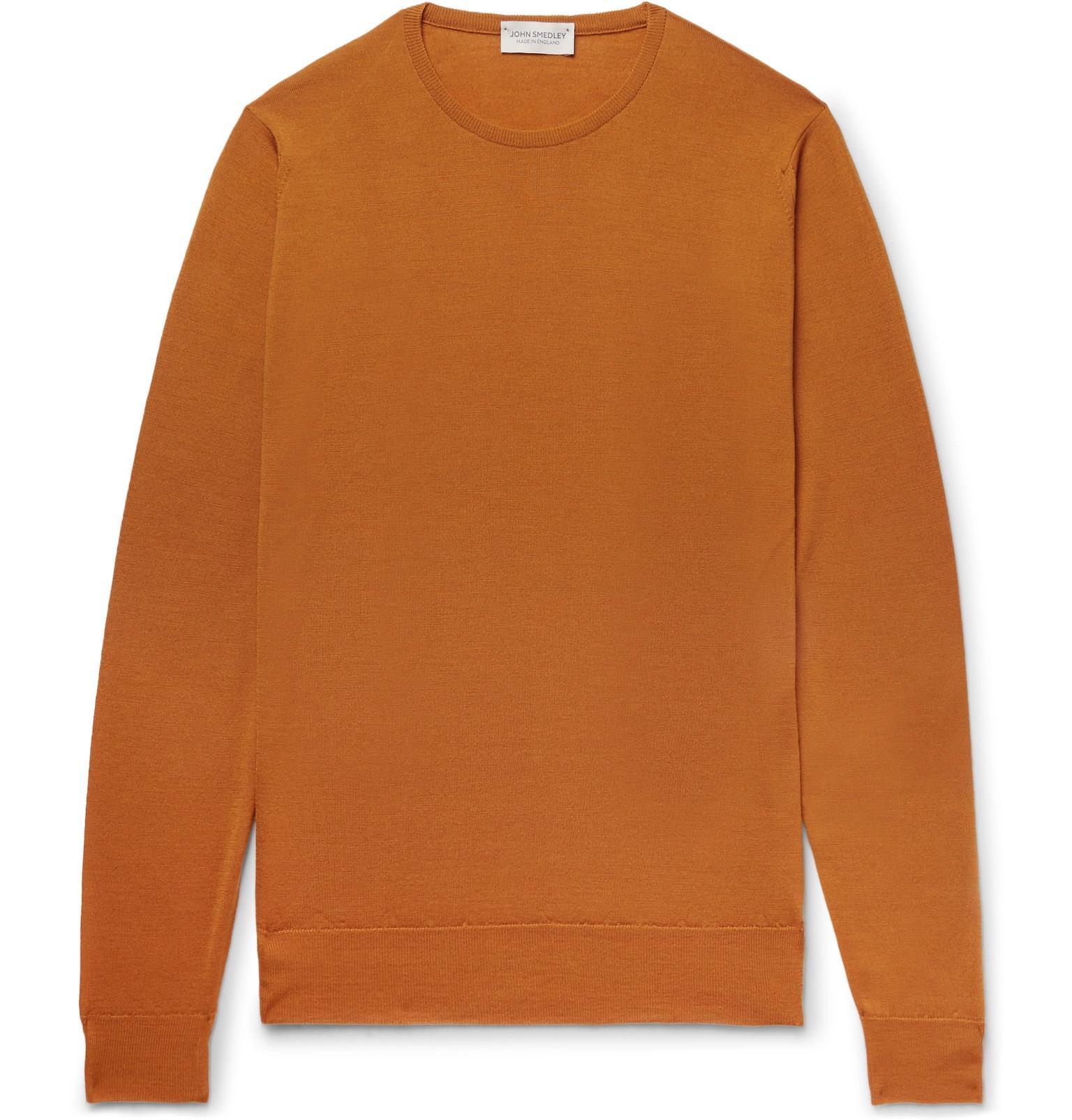 Lundy para Slim lana Lyst hombres Fit Smedley merino John naranja de suéter Zqz6Et