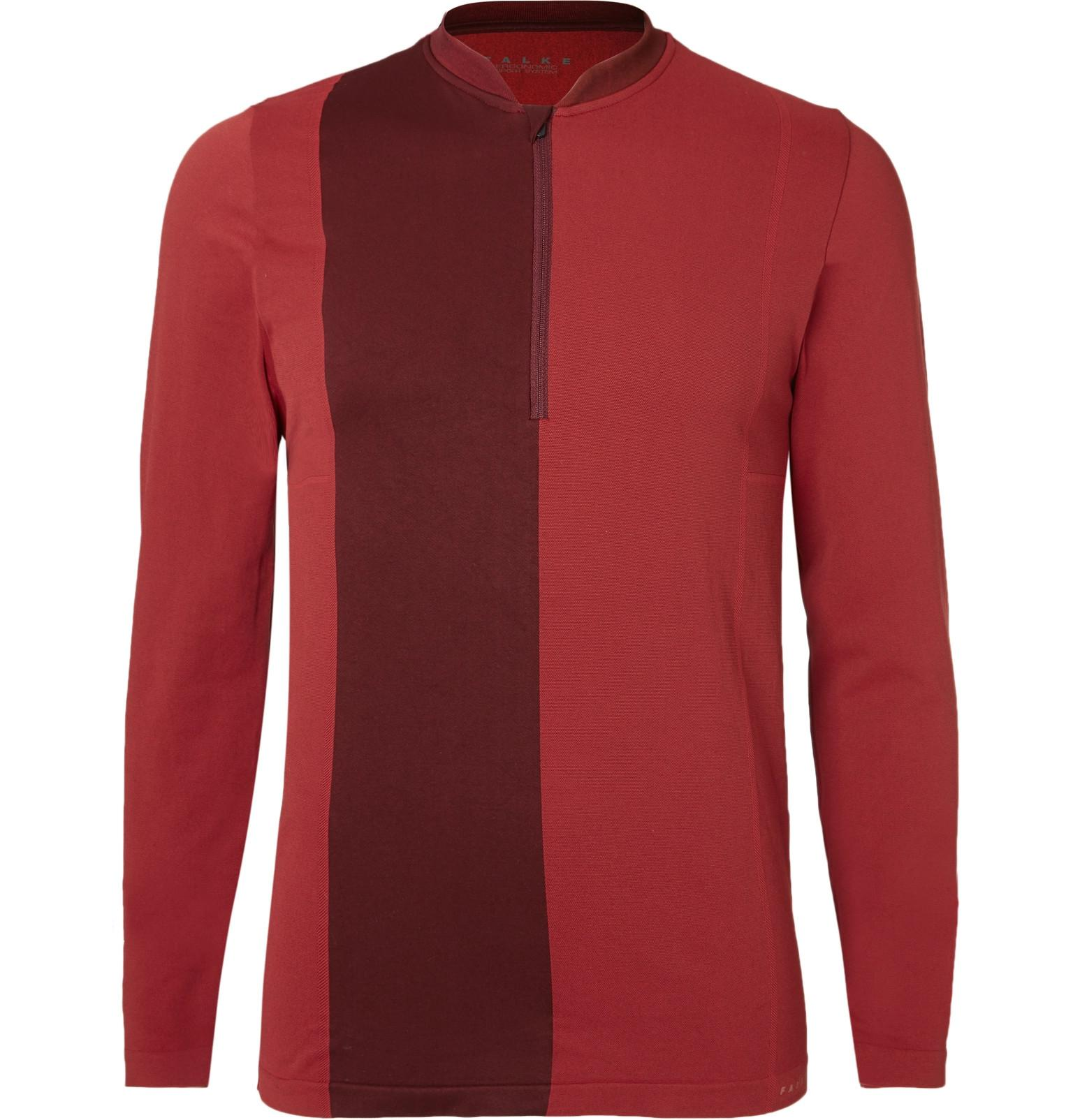 Half-zip long-sleeved T-shirt Falke Manchester Sale Online Extremely Cheap Price ZEStm3XH