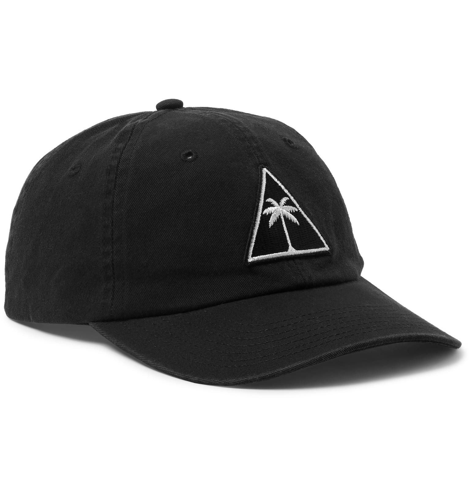 b3bd634f639 Palm Angels Appliquéd Cotton-twill Baseball Cap in Black for Men - Lyst