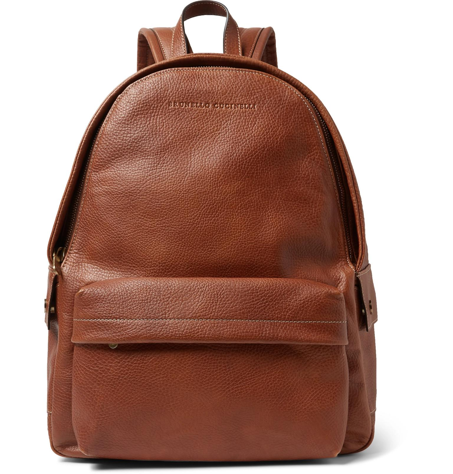 8f34eb2ee6 Lyst - Brunello Cucinelli Full-grain Leather Backpack in Brown for Men