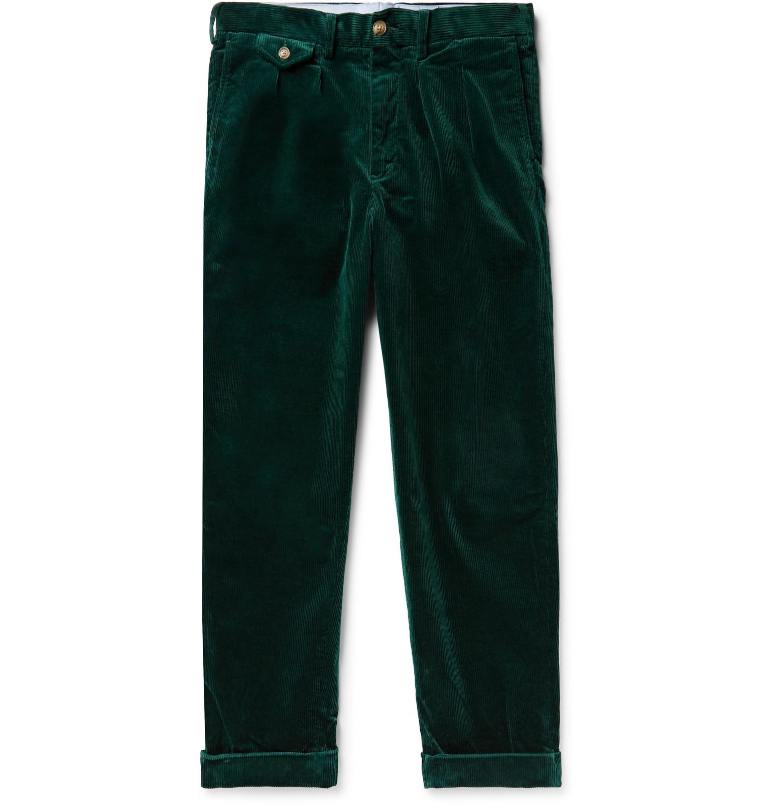 749cc4dd047 Polo Ralph Lauren Wide-leg Pleated Stretch Cotton-corduroy Trousers ...