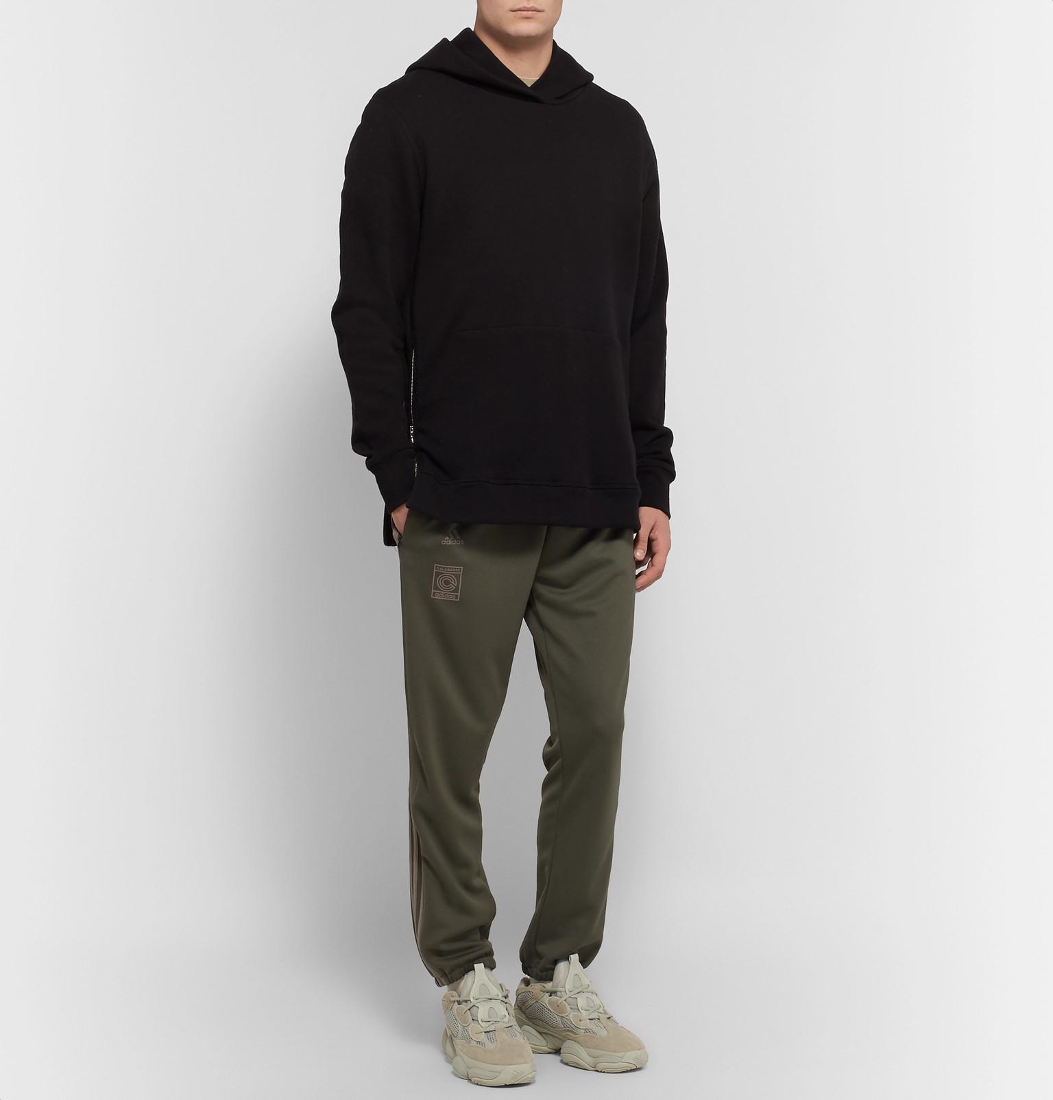 1845ab590ea88 adidas Originals + Yeezy Calabasas Slim-fit Tapered Striped Jersey ...