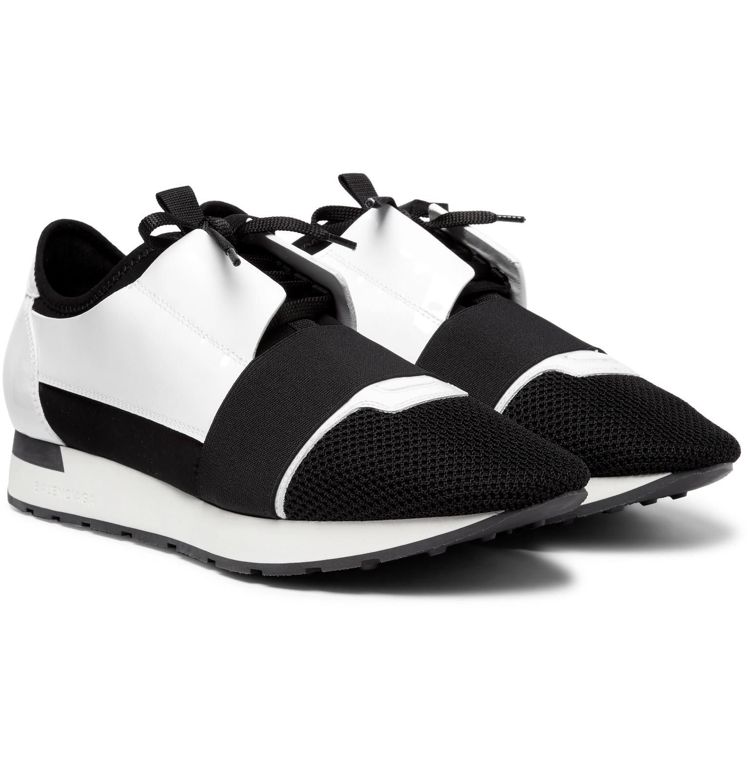 41613304a745 Lyst - Balenciaga Race Runner Patent-leather