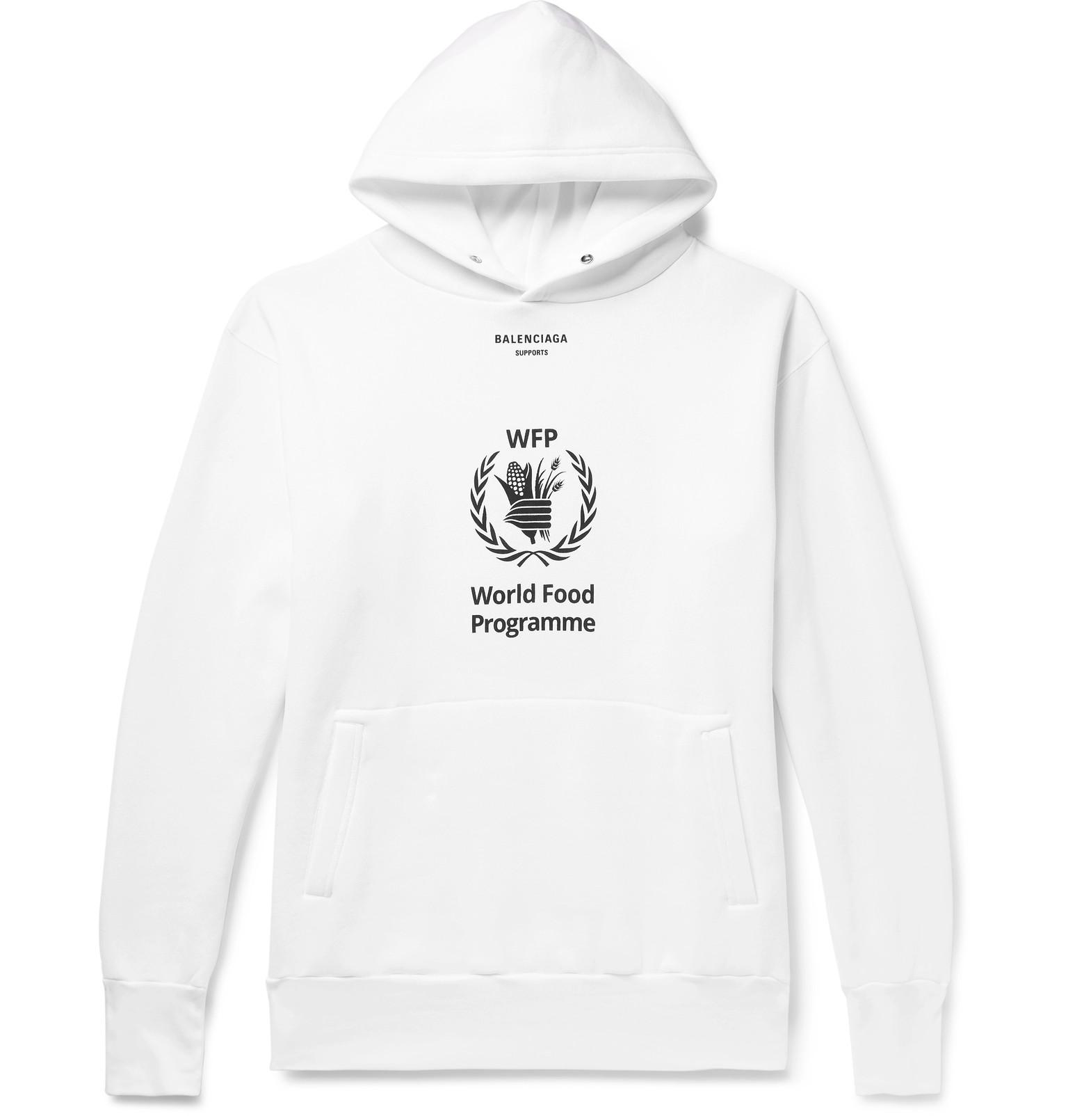 cadea379 Balenciaga White World Food Programme Cotton-blend Hoodie in White ...