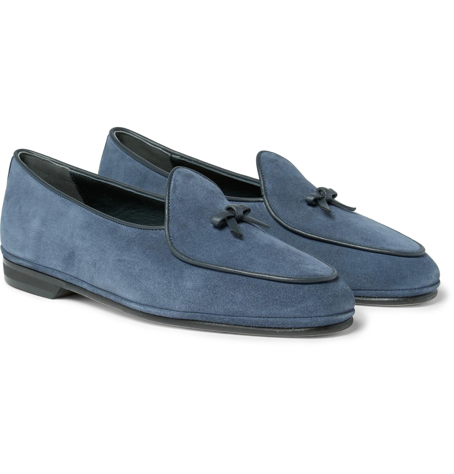 sale high quality for nice for sale Rubinacci Marphy Leather-Trimmed Suede Loafers 2015 cheap online outlet perfect cheap sale visa payment sPF4AEkF