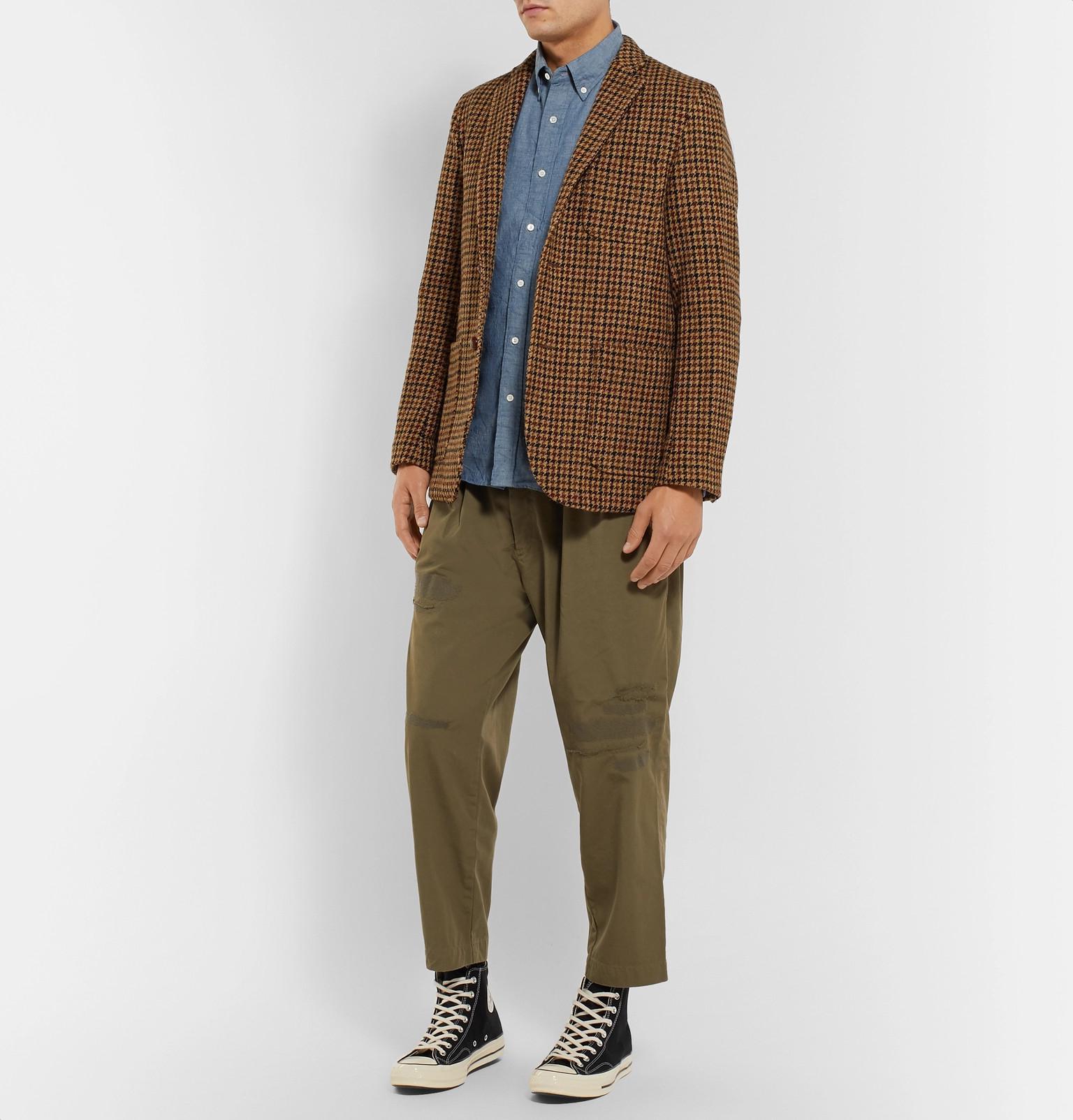 fb54fb6d61f Beams Plus - Blue Button-down Collar Cotton-chambray Shirt for Men - Lyst.  View fullscreen