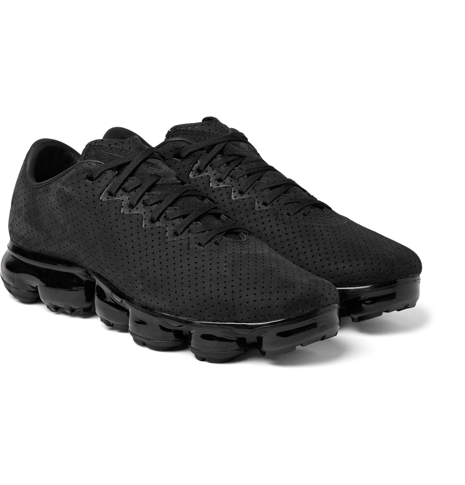 079652db1c11f Lyst - Nike Air Vapormax Ltr Perforated Suede Sneakers in Black for Men