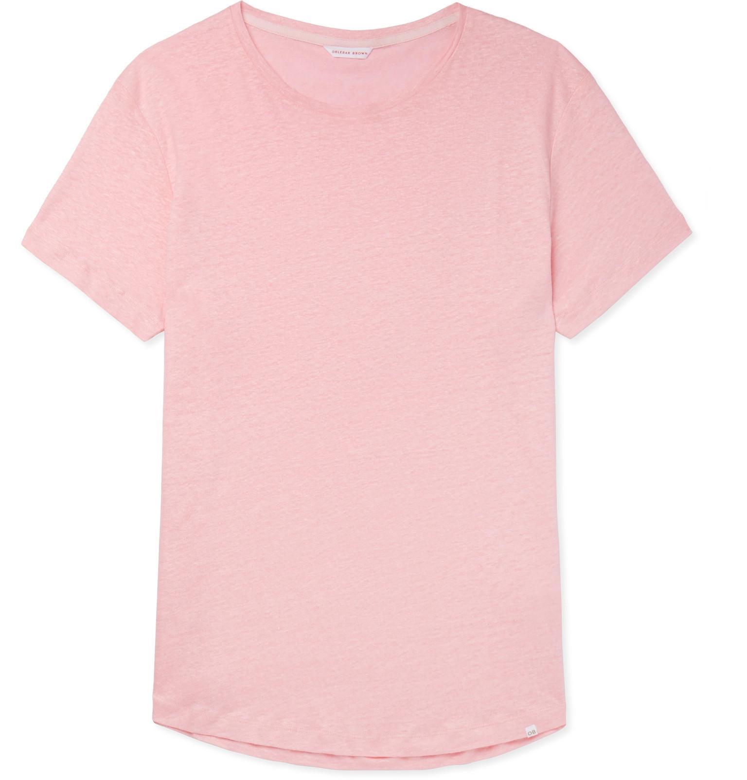 Orlebar Brown Ob-t Slim-fit Linen T-shirt - Pink OO1FU5